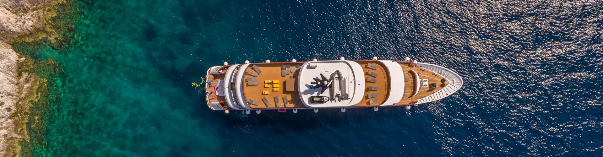 barca a motore Deluxe Superior nave da crociera MV Black Swan
