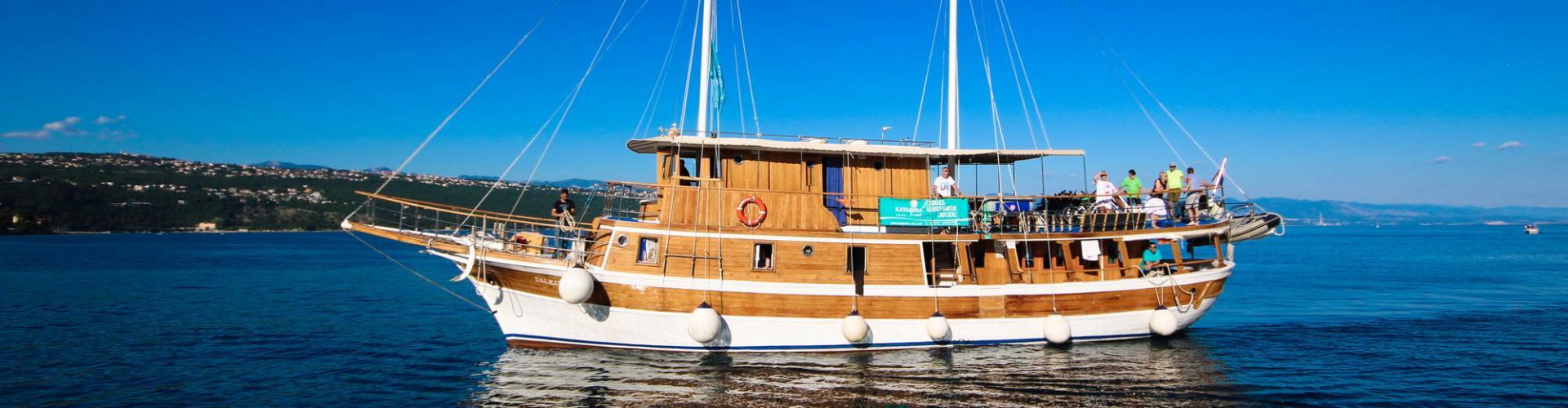 1968. Nave da crociera tradizionale Dalmatinka