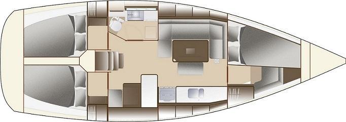 barca a vela Dufour 375