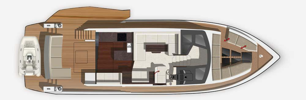 barca a motore Galeon 500 Fly