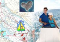 Navigate intorno l'isola d`amore e trascorrete San Valentino in un modo speciale