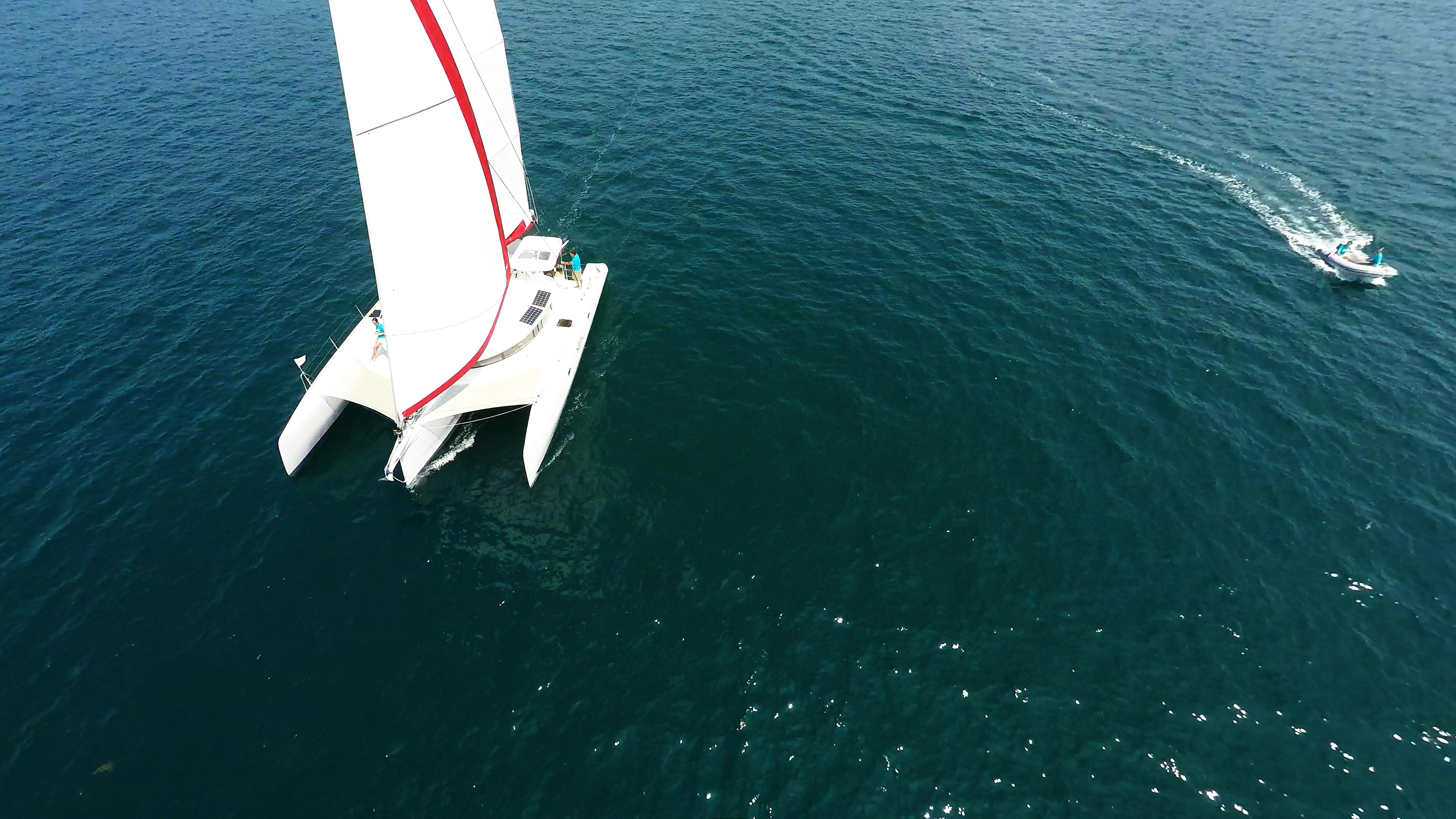 imbarcazioneing trimarano neel 45 tender gommone veleggia