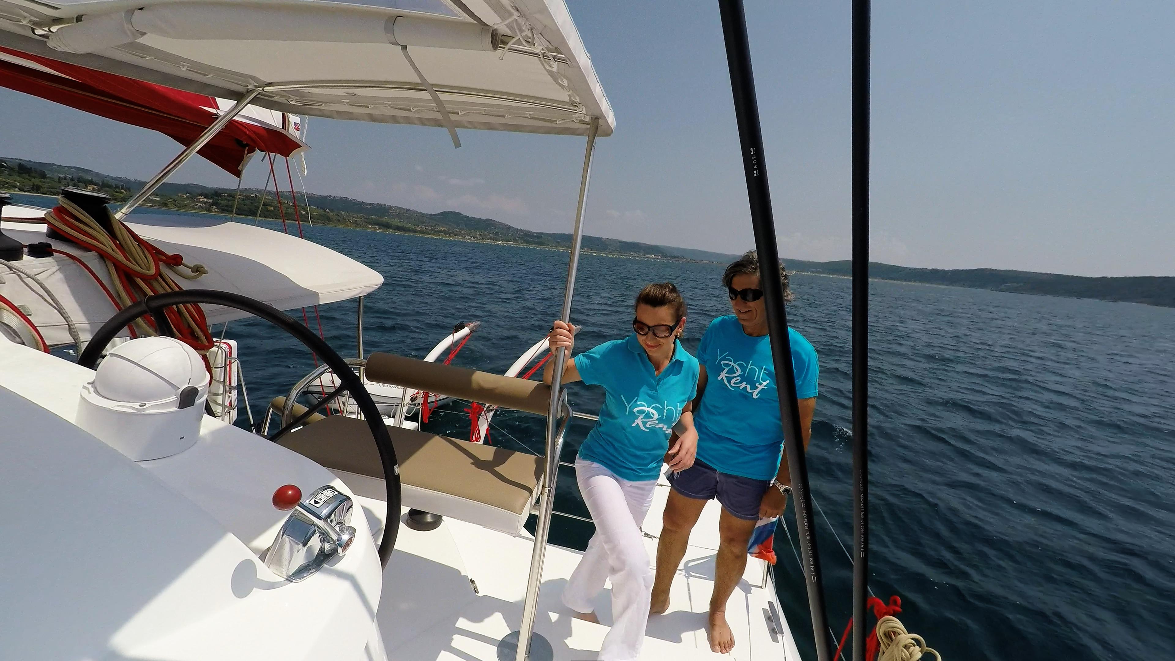 equipaggio della barca a vela