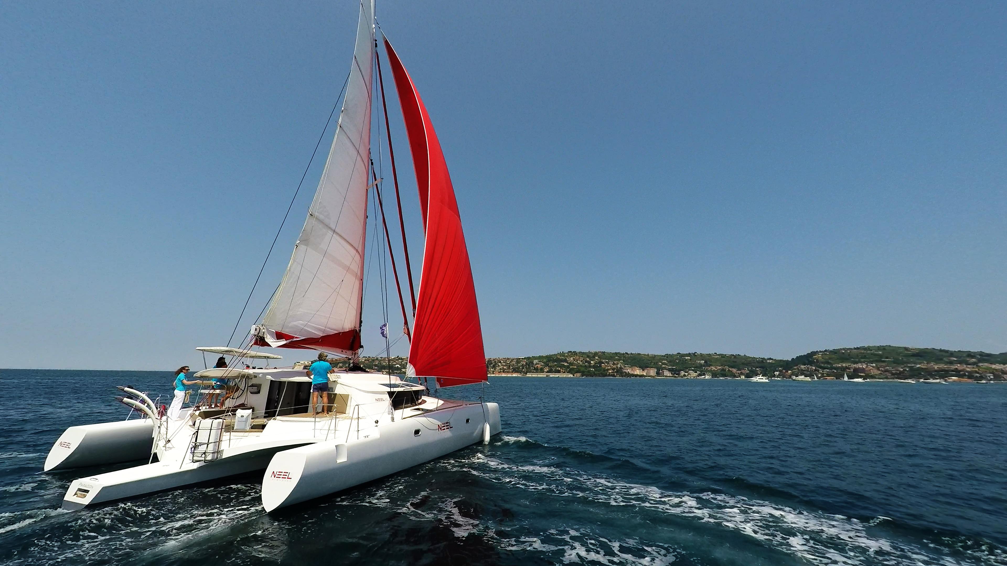 multiscafo barca a vela neel 45 poppa
