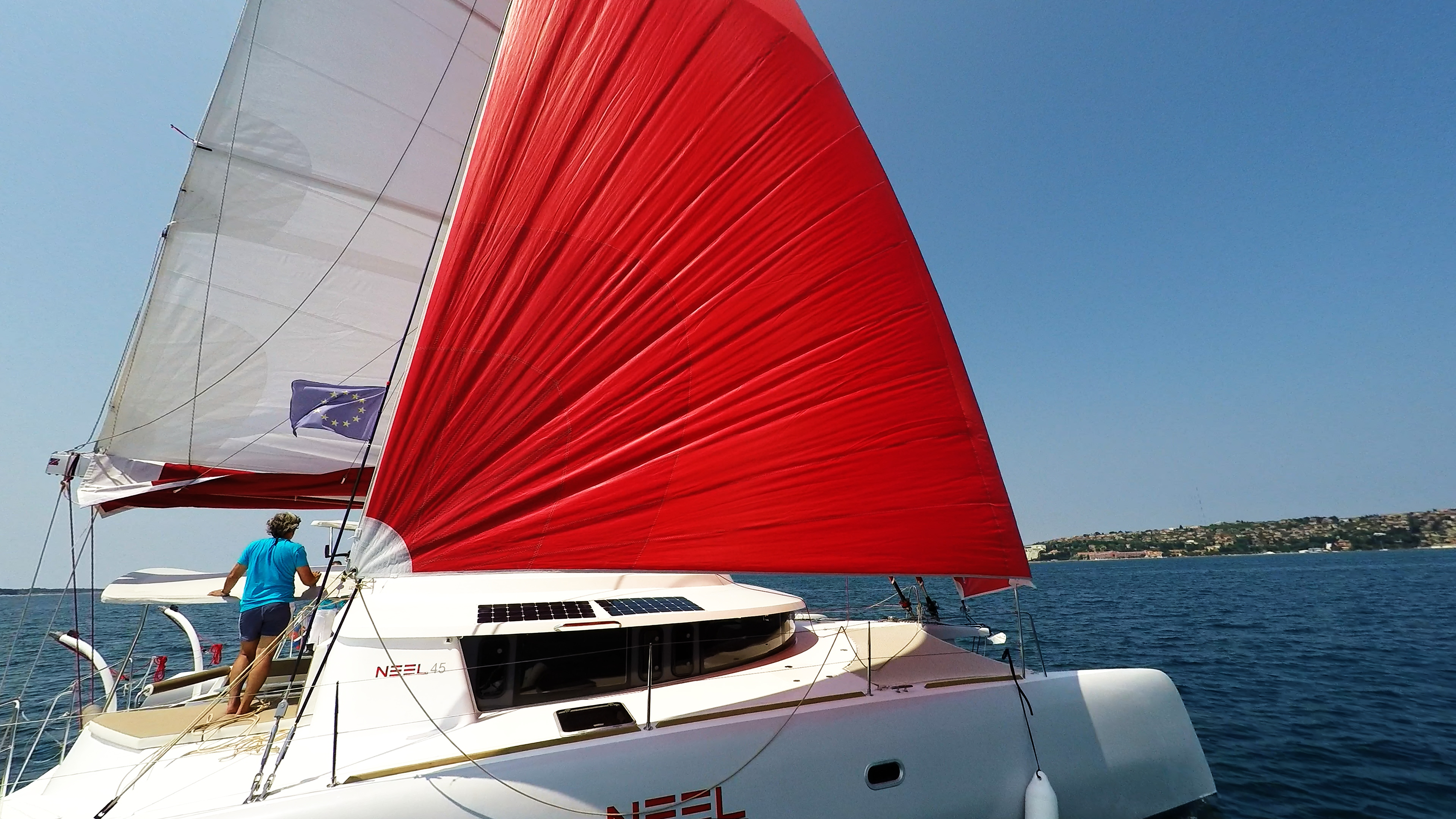 multiscafo yacht neel 45 vela gennaker