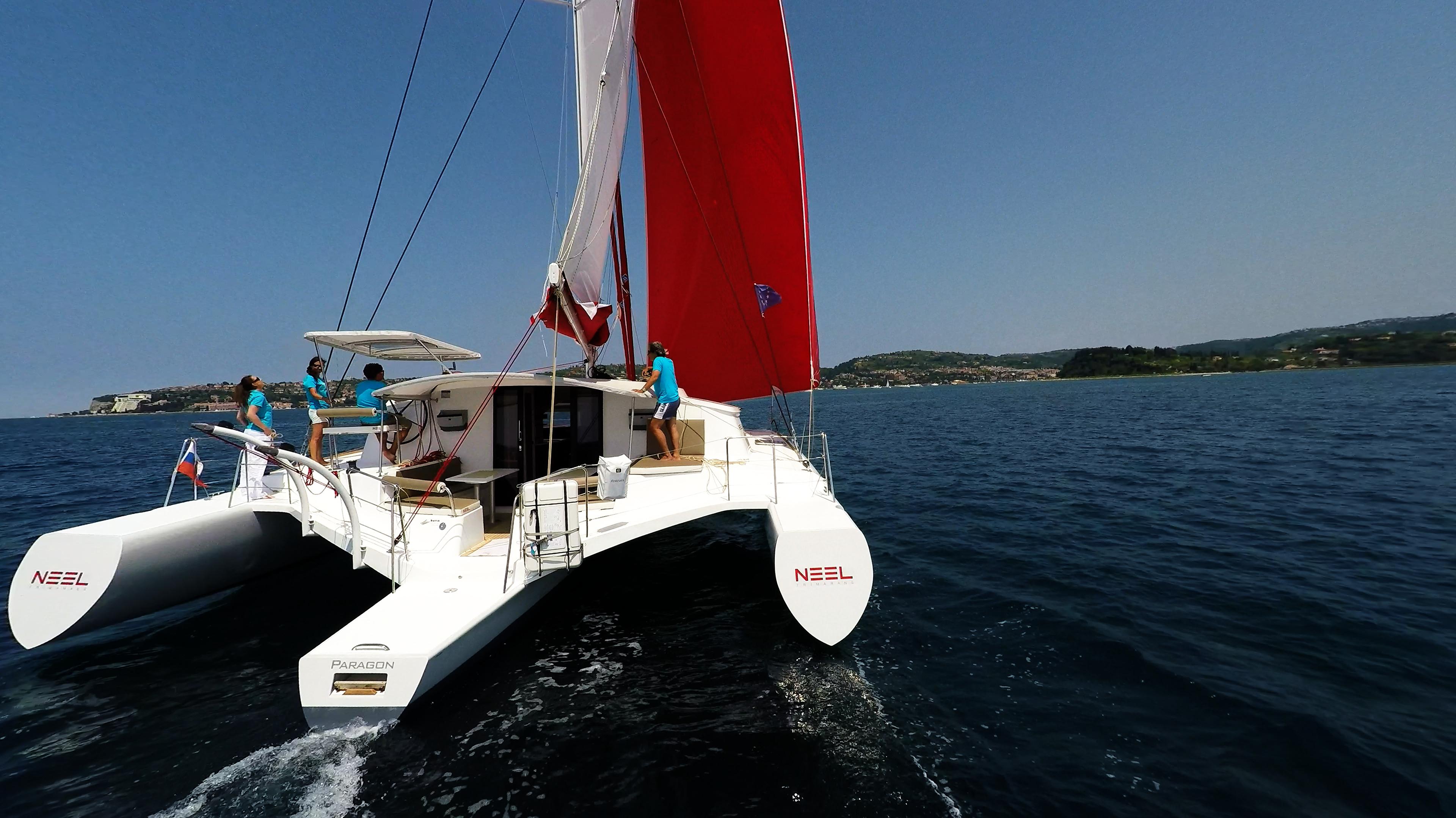 multiscafo yacht poppa cockpit vela