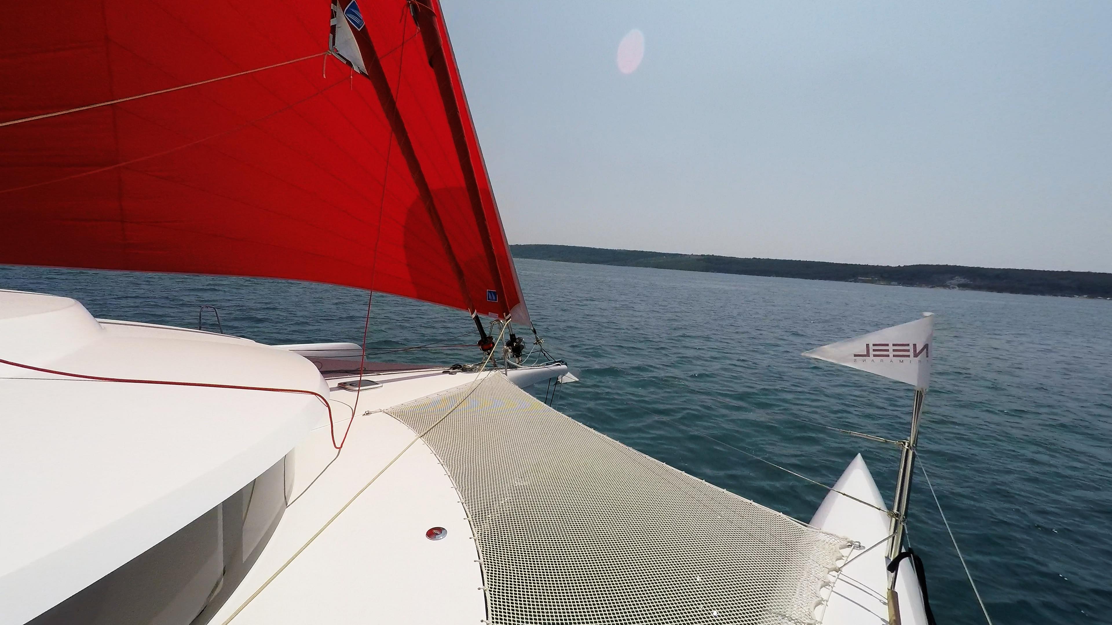 neel 45 prua trimarano yacht vela gennaker 1
