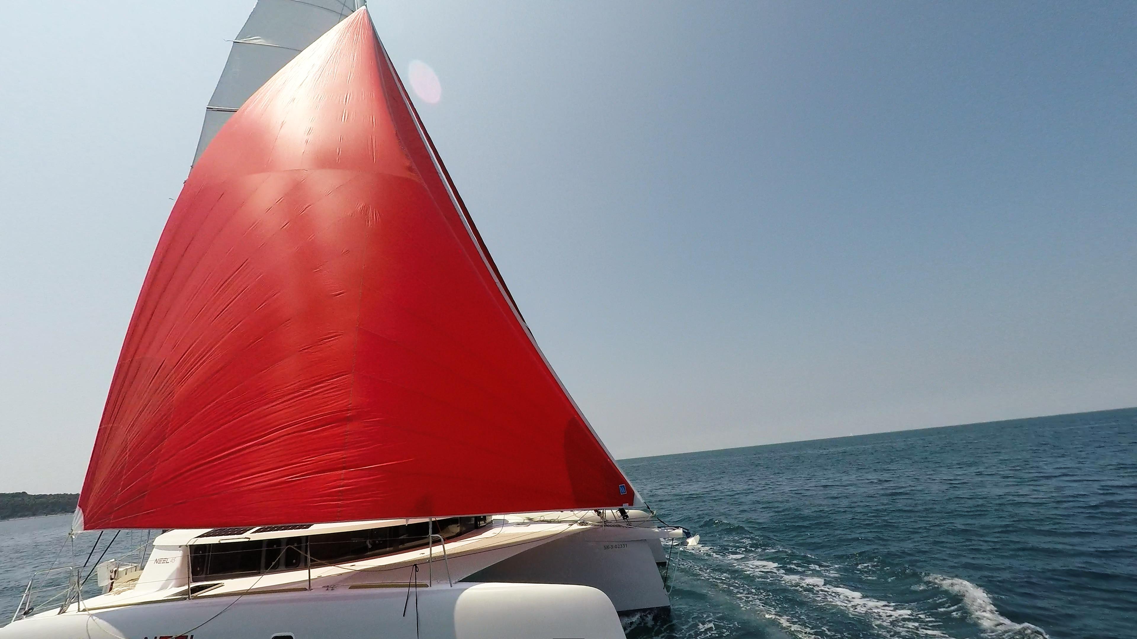neel 45 navigare gennaker vela