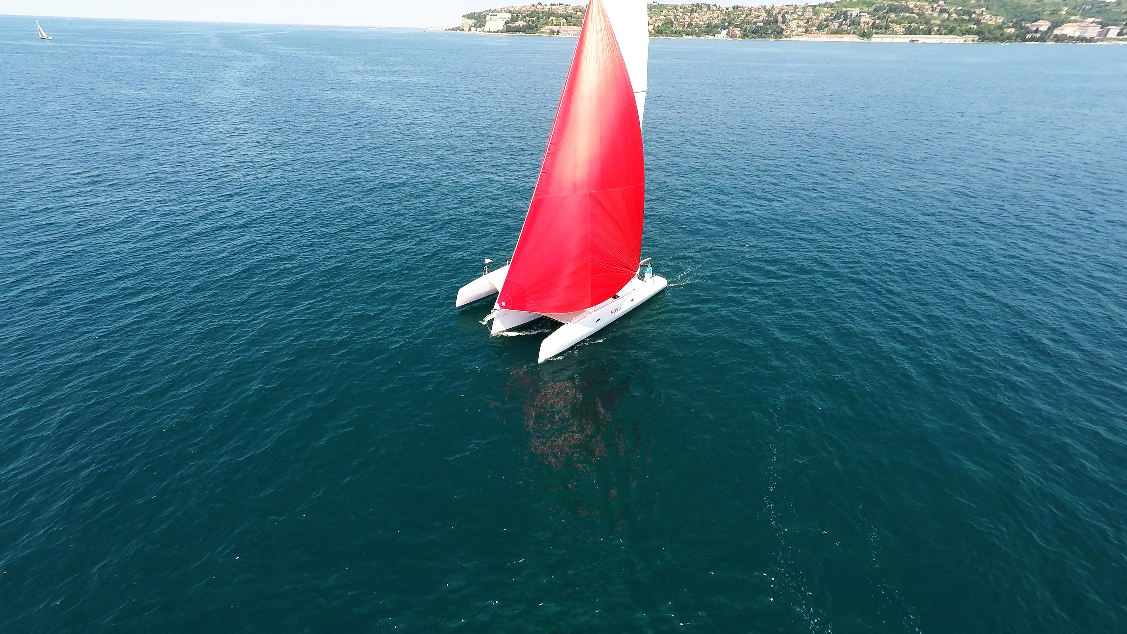 neel 45 trimarano gennaker noleggio barca a vela