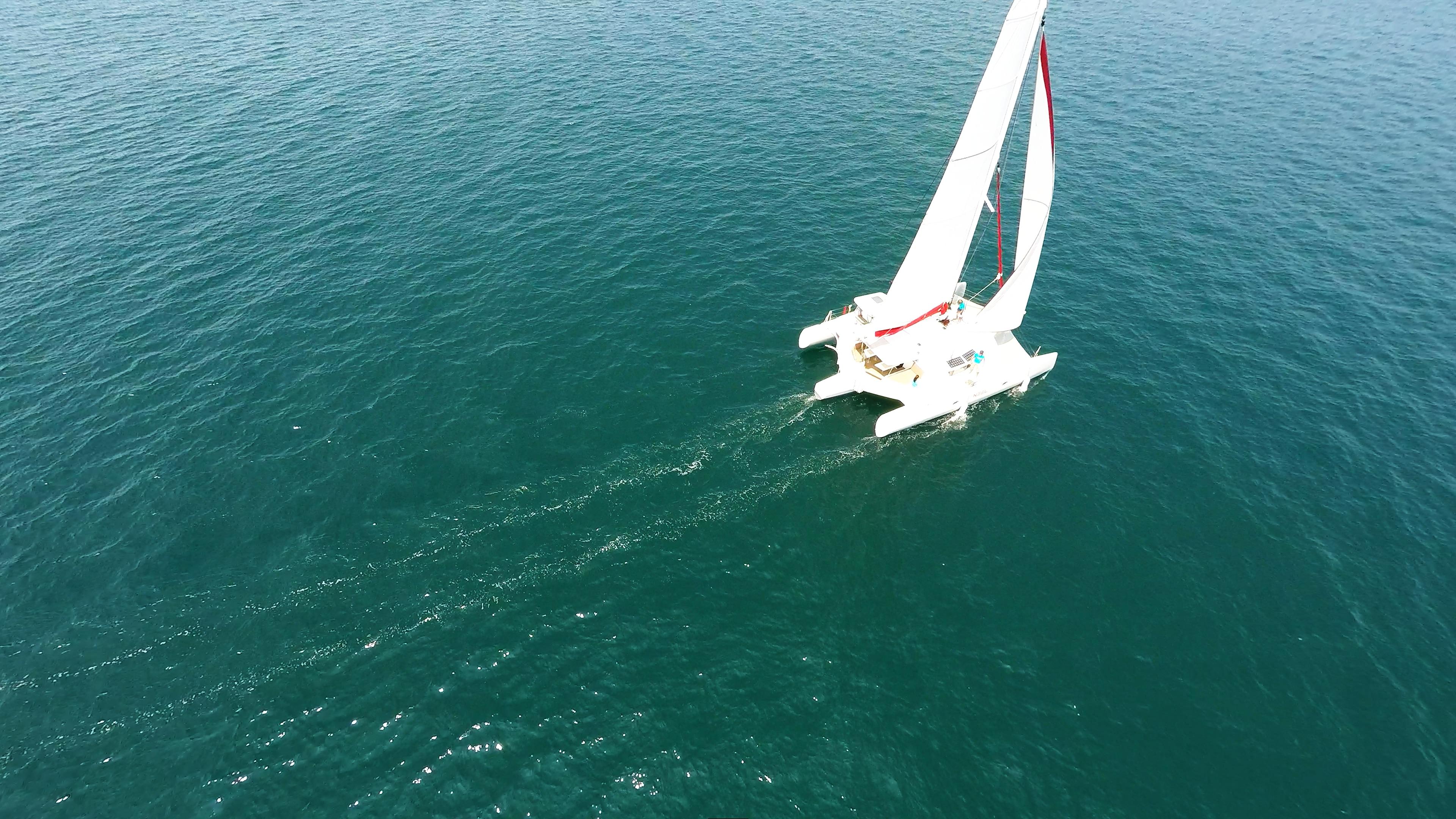 trimarano al mare 1