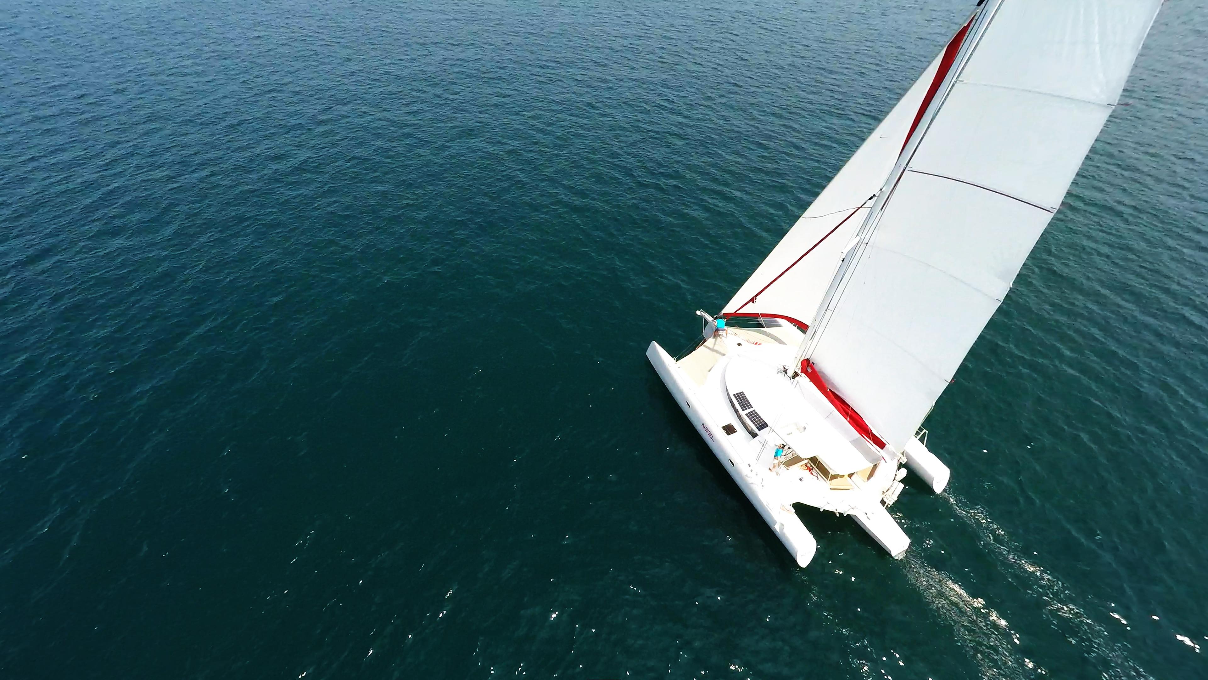 trimarano randa albero appiattita vela yacht