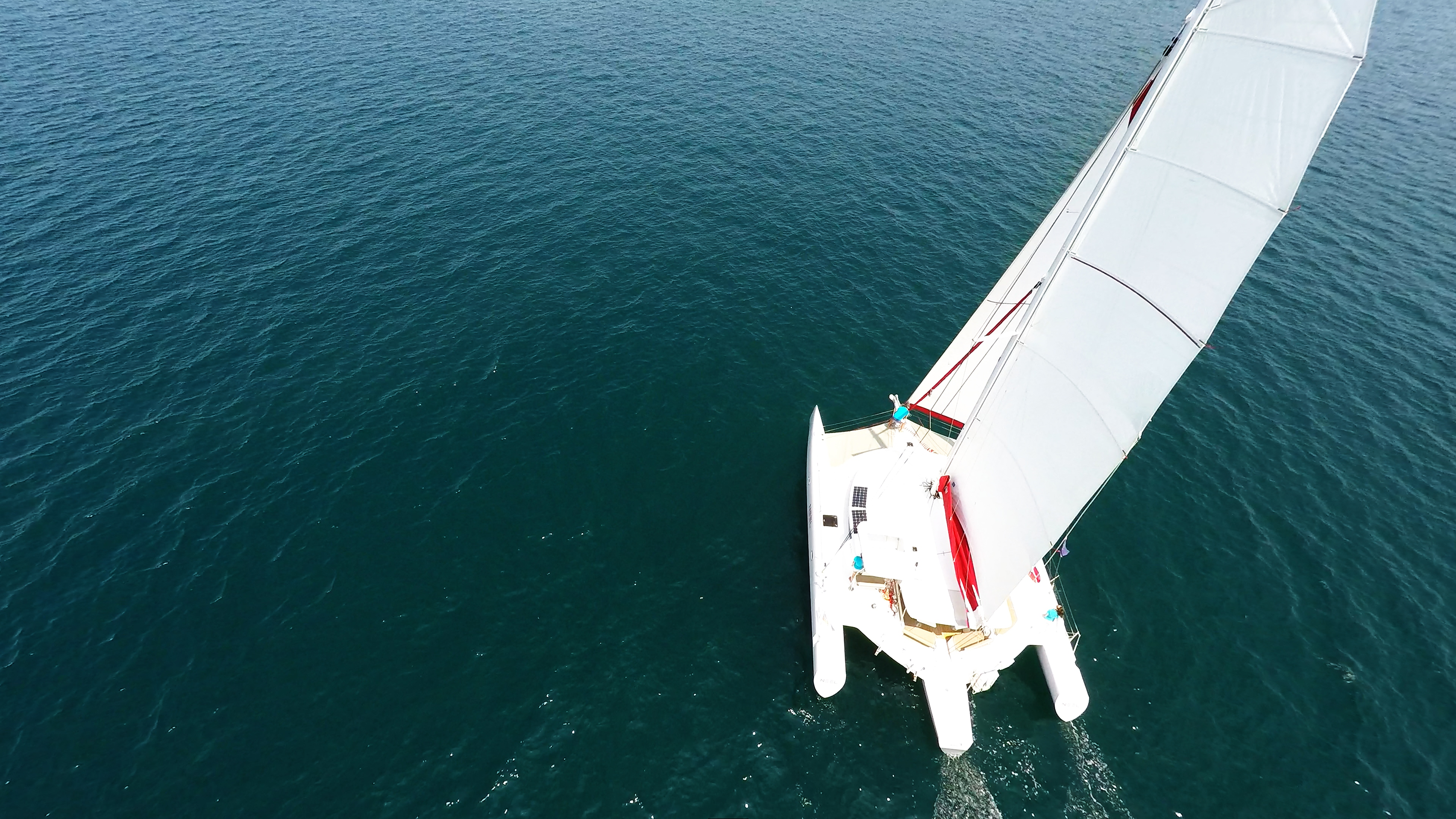 yachting trimarano randa aerea