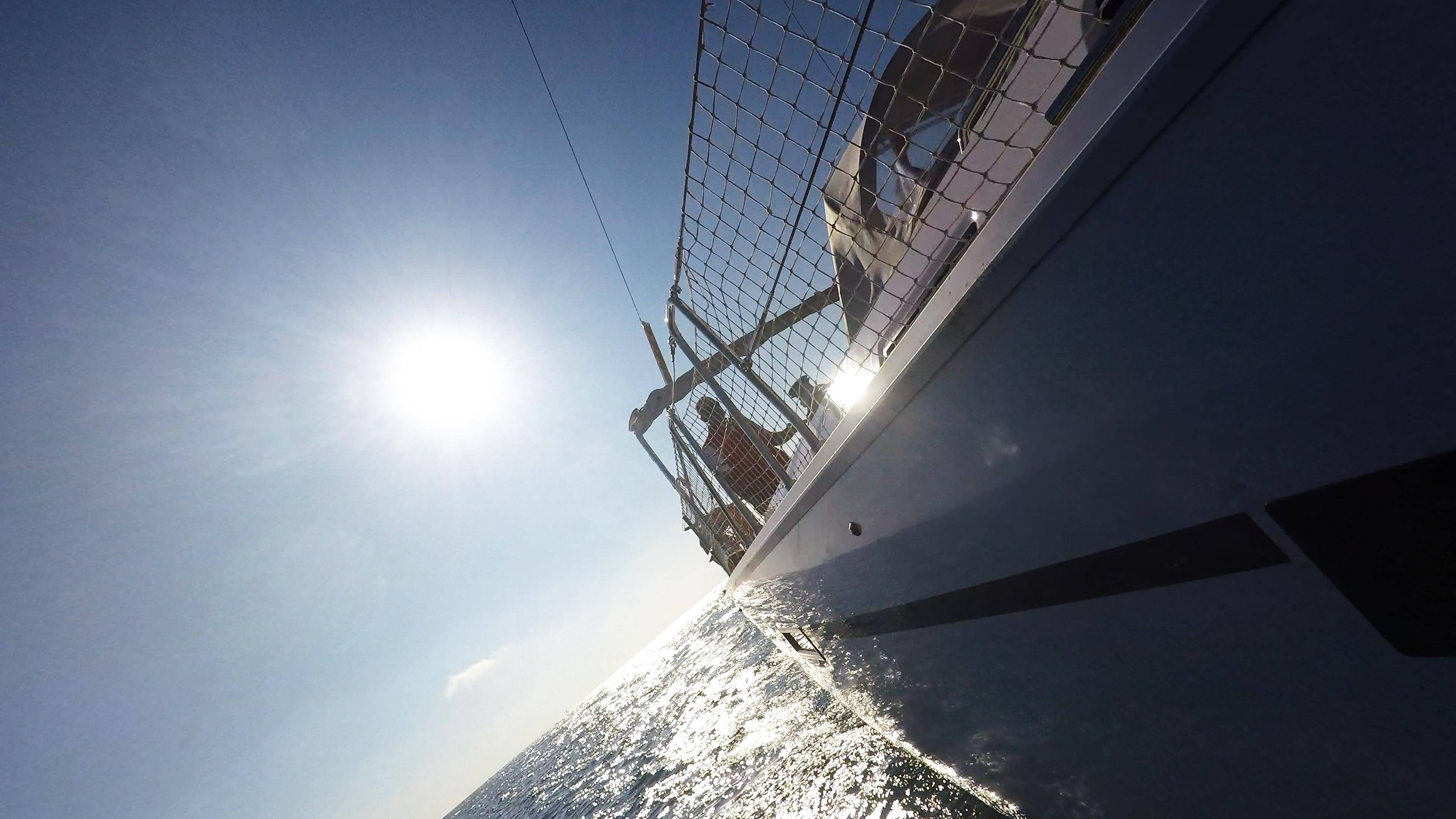 barcha a vela bavaria 46 rete di sicurezza lato skipper yacht a vela