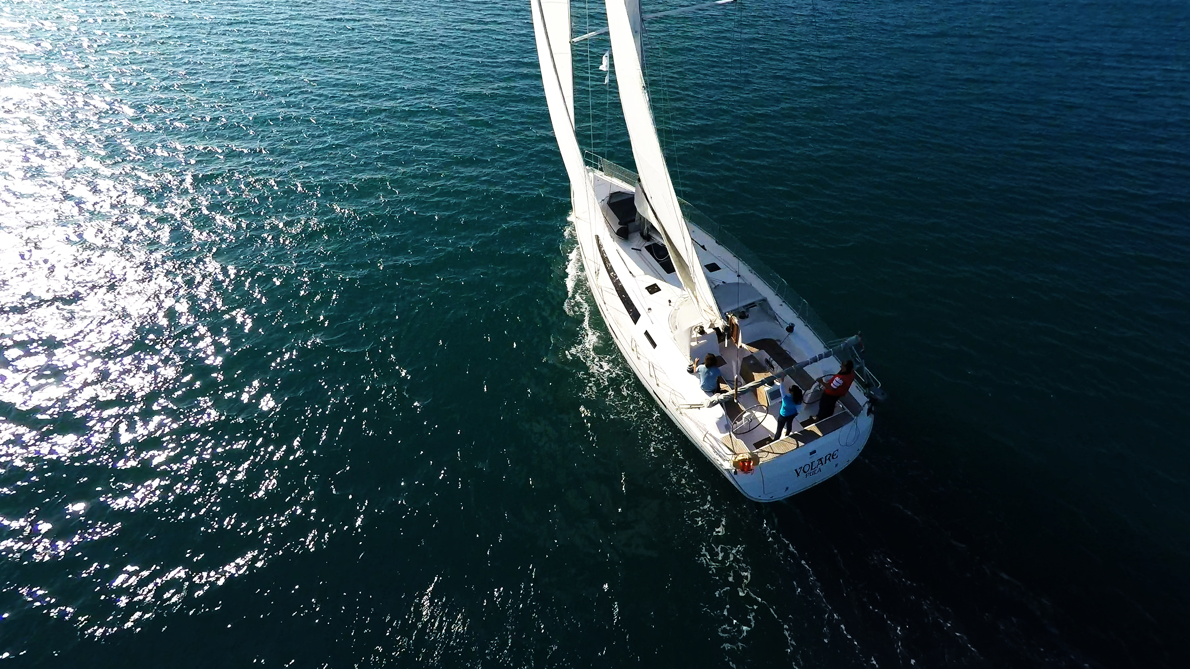 barcha a vela bavaria 46 vele della barca a vela vento mare veleggiare