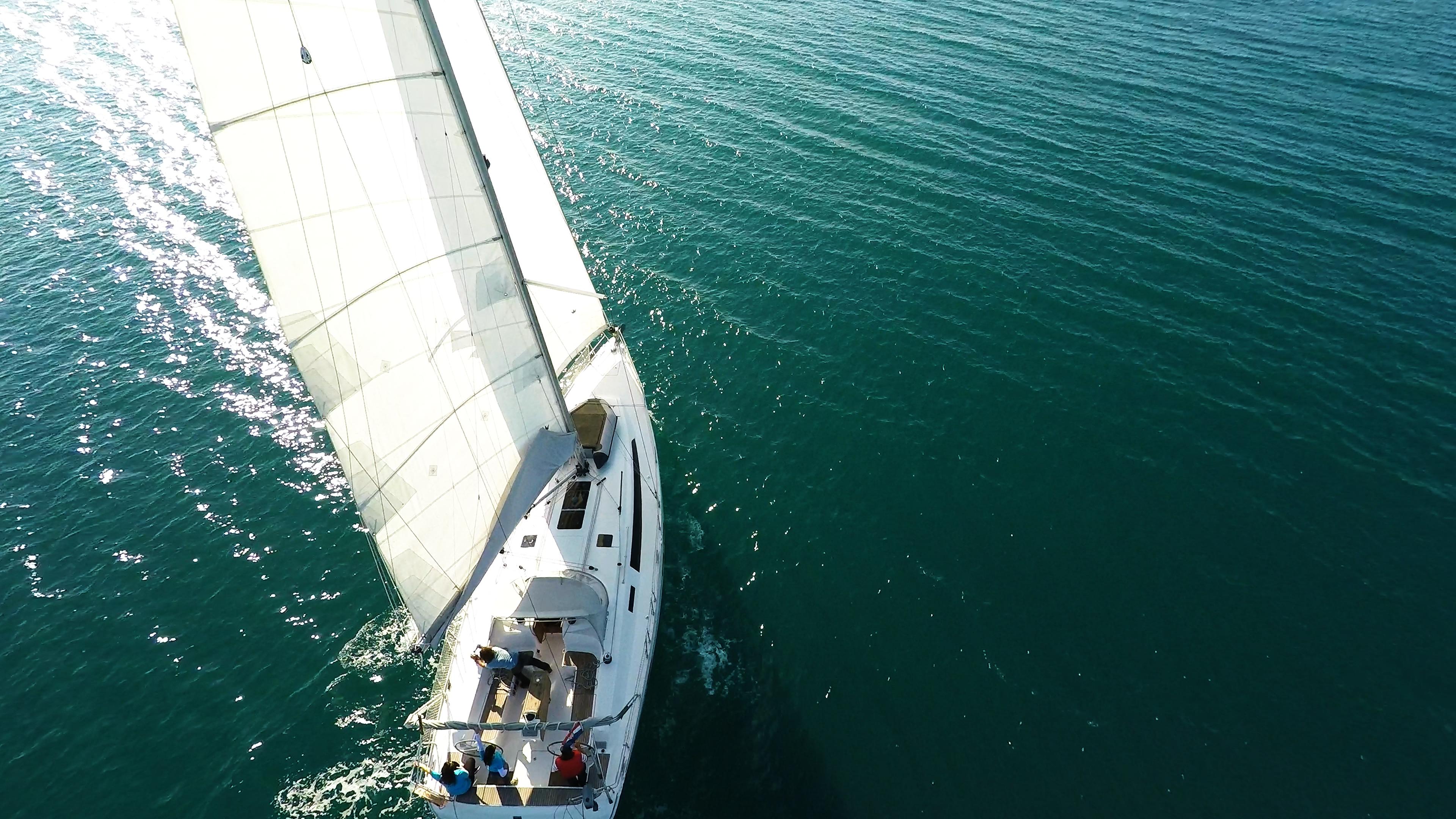 barcha a vela bavaria 46 yacht a vela aereo