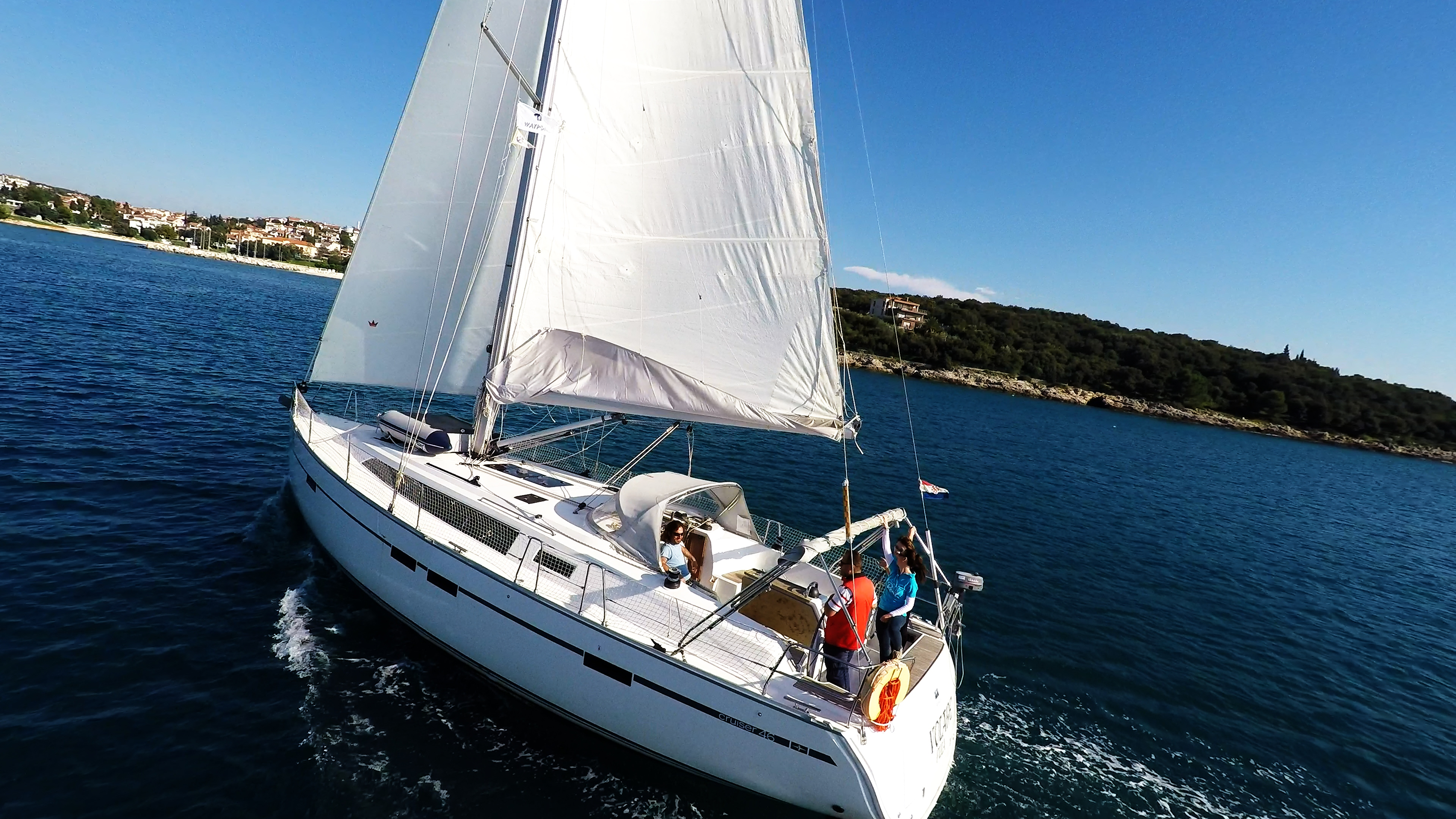 barcha a vela bavaria 46 yacht a vela pozzetto equipaggio
