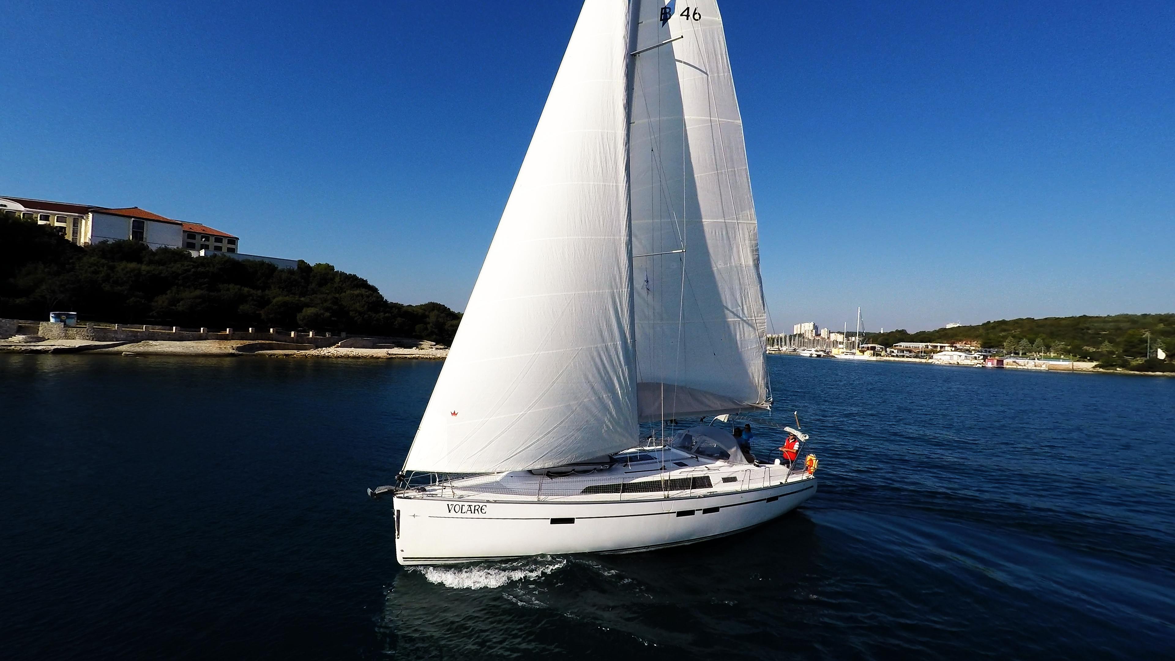 barcha a vela bavaria 46 vele di yacht a vela barca a vela Croazia