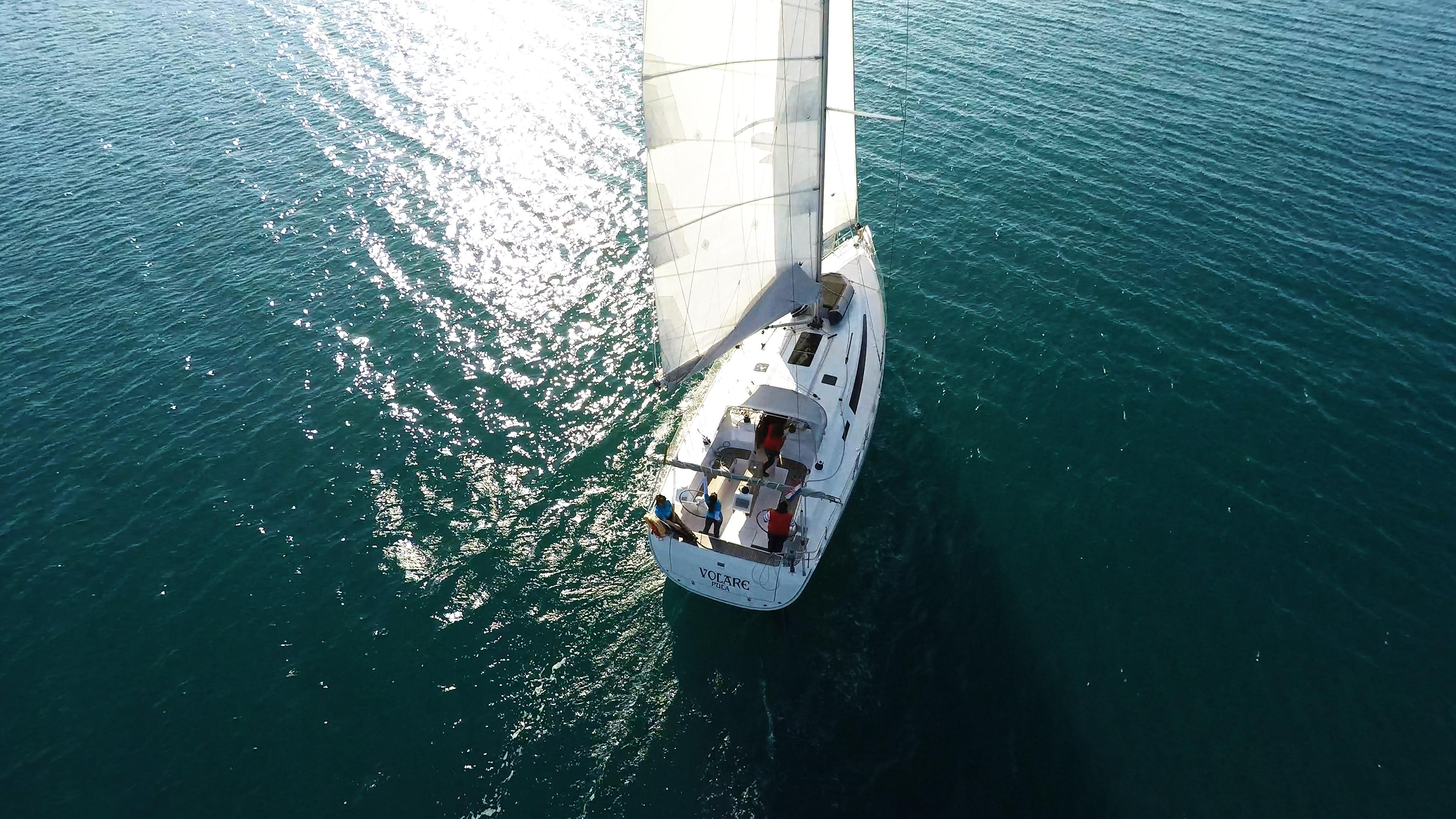 barcha a vela barca a vela bavaria 46 veleggiare mare ponte vele