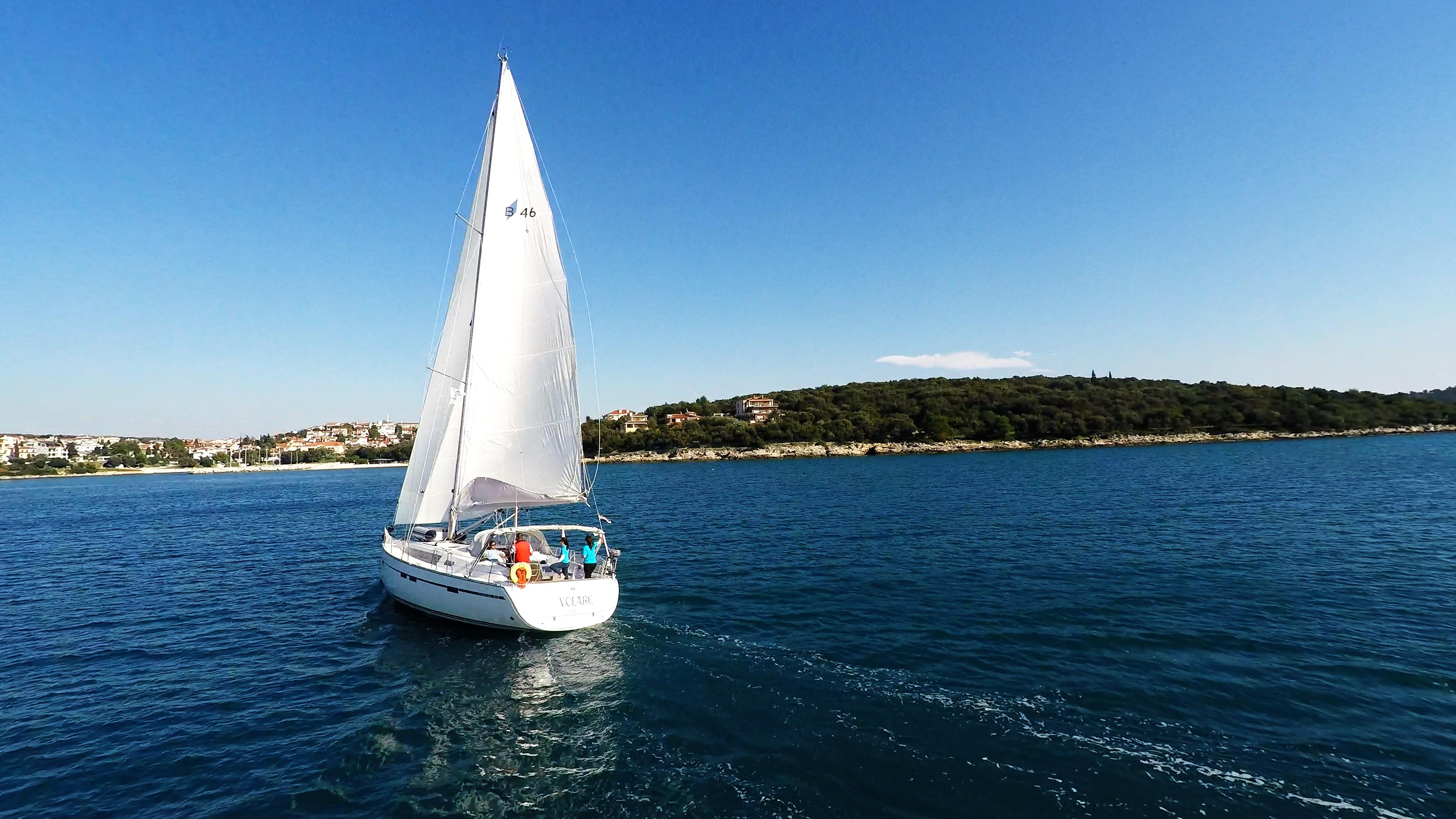barcha a vela barca a vela veleggiare Croazia isola del mare