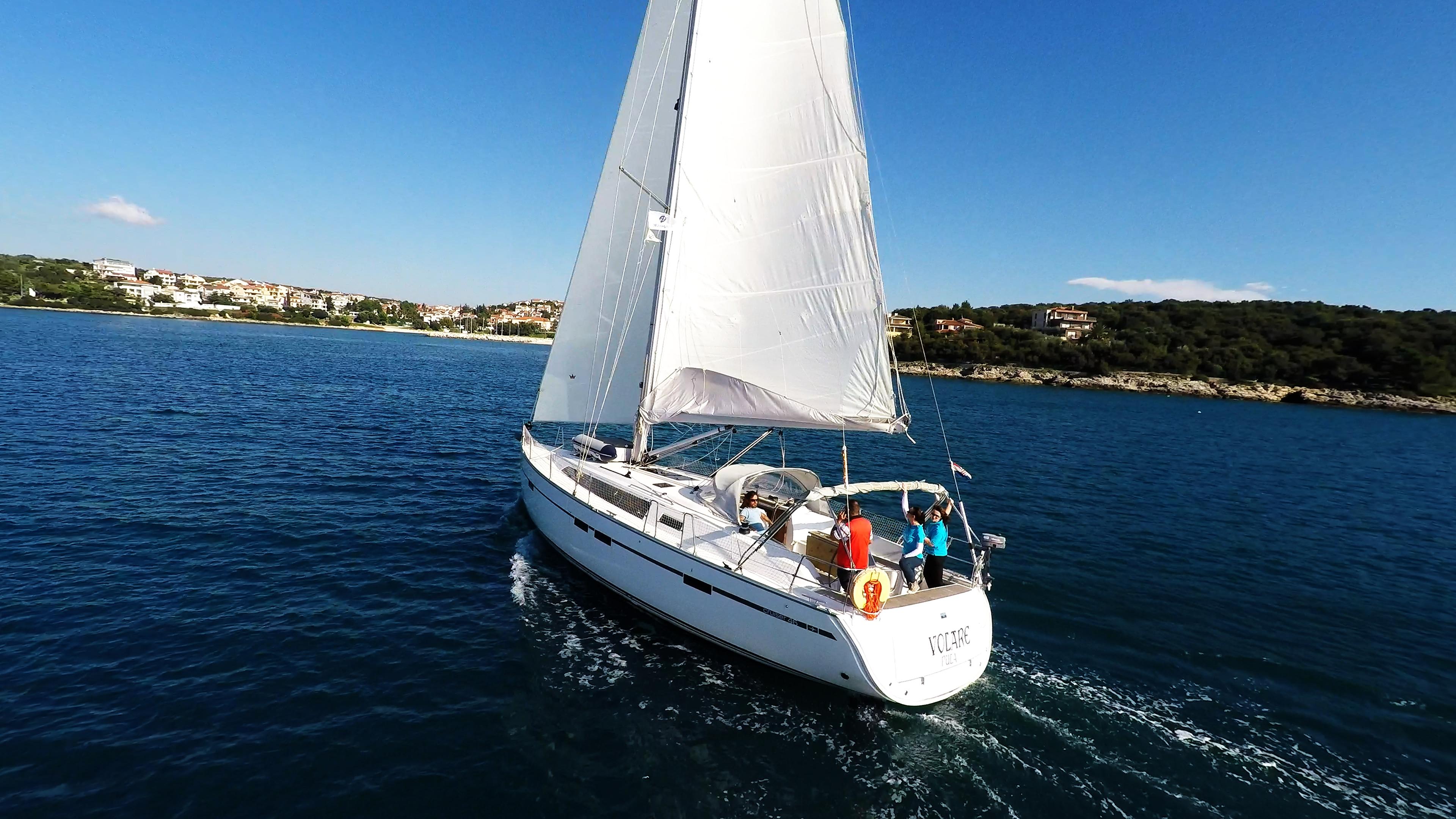barcha a vela barca a vela yacht a vela costa Croazia
