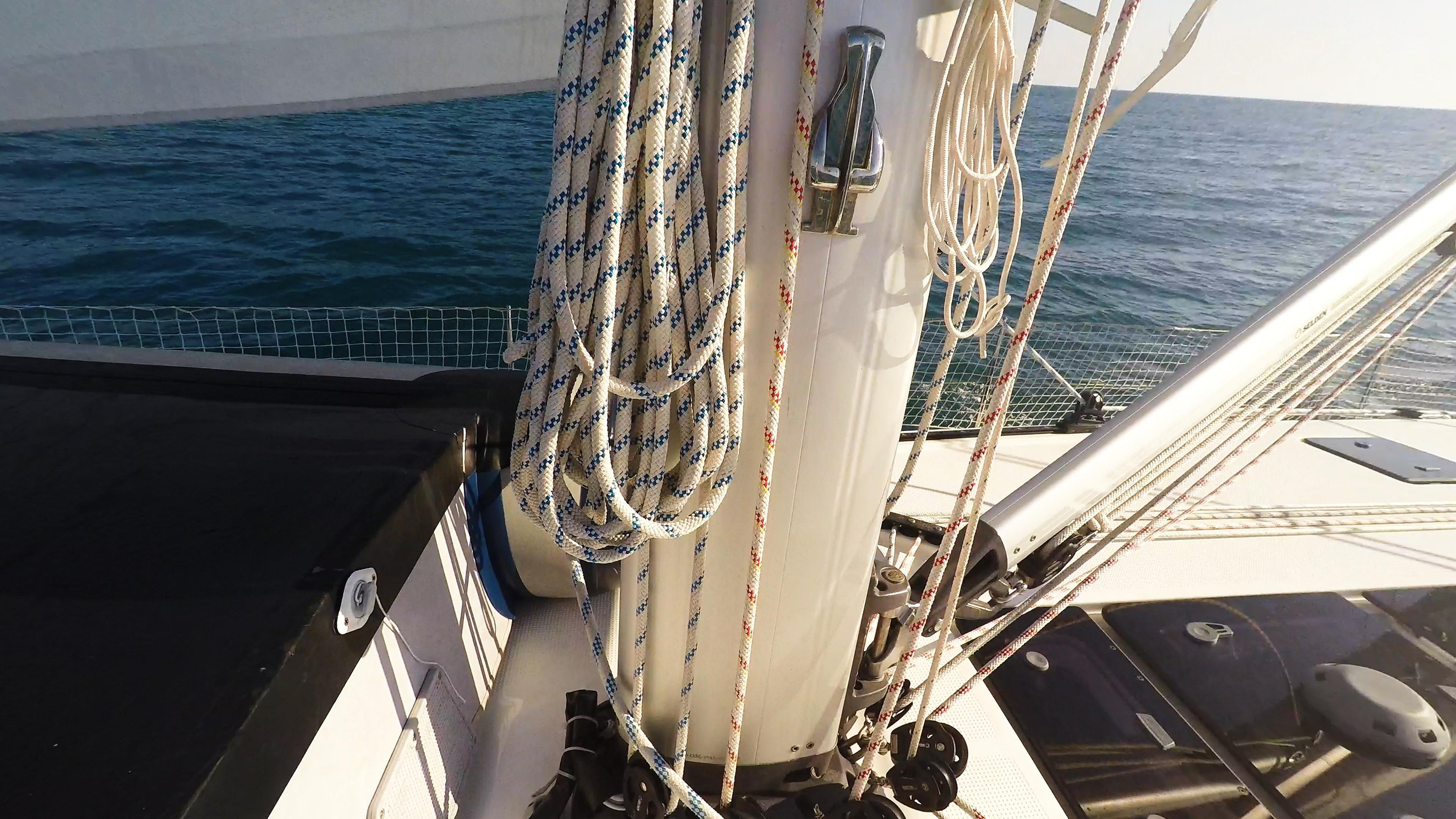 barcha a vela yacht a vela bavaria 46 fondo del albero vang