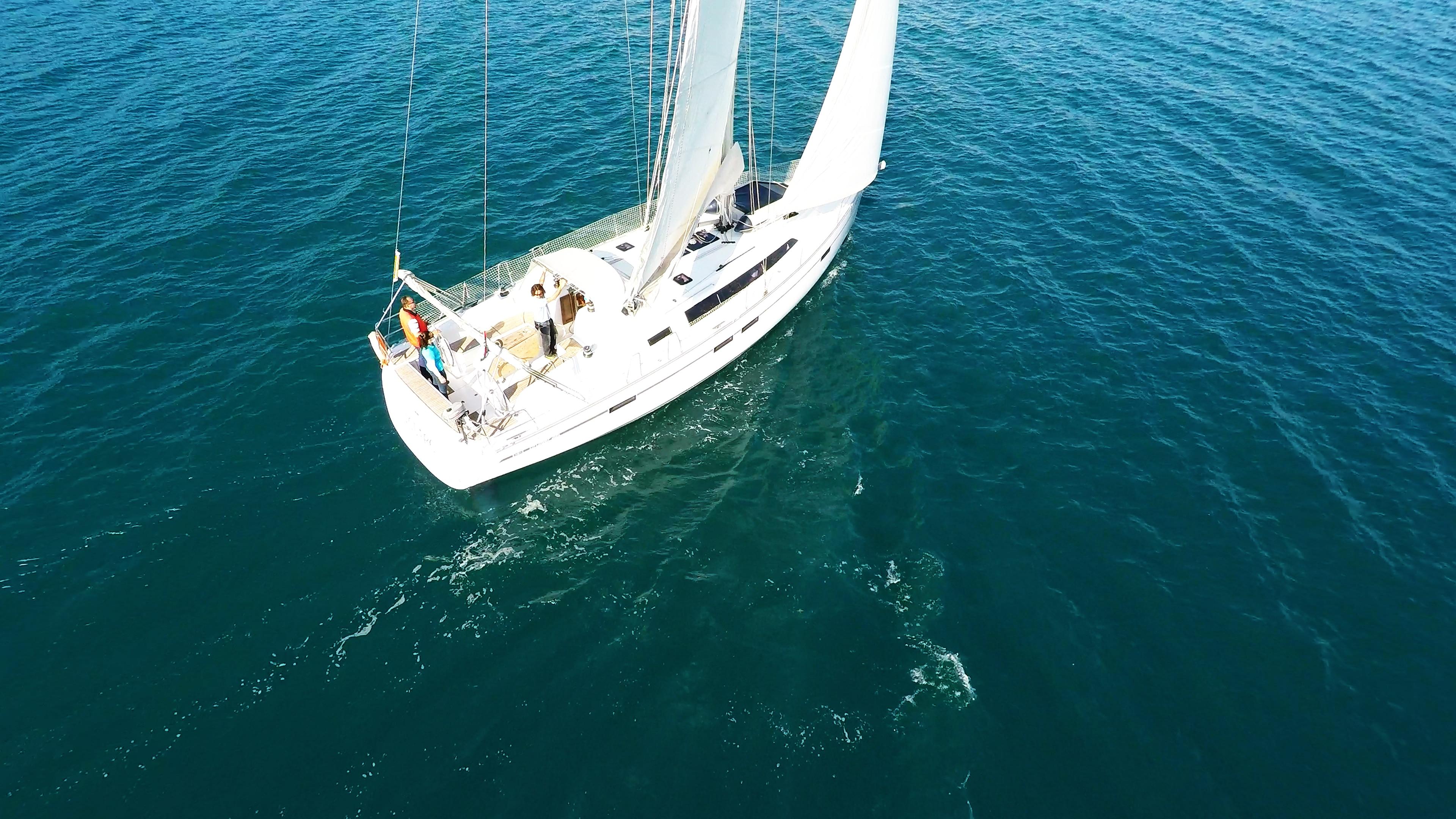 barcha a vela yacht a vela bavaria 46 vele ponte