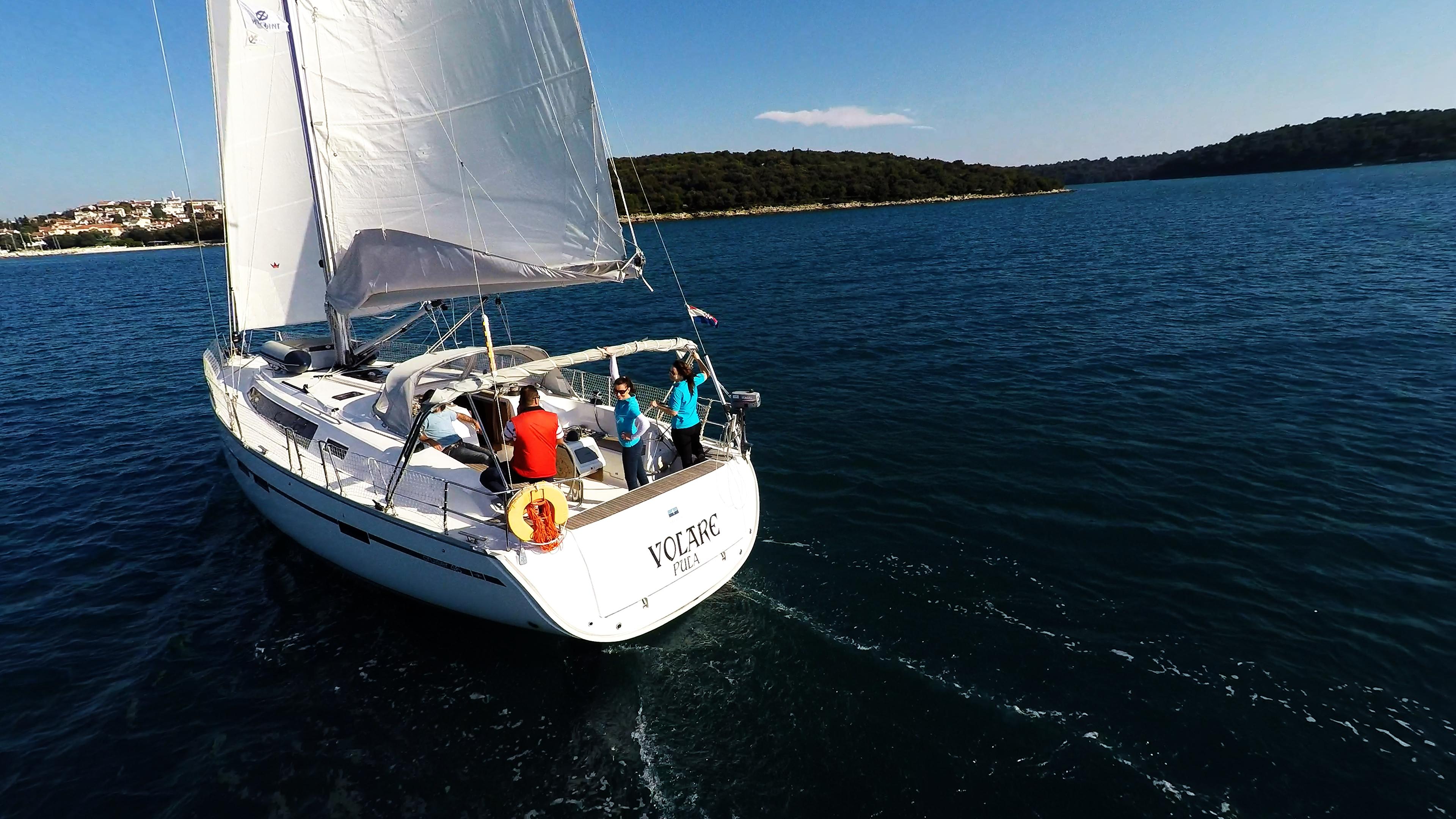 barcha a vela yacht a vela pozzetto skipper equipaggio