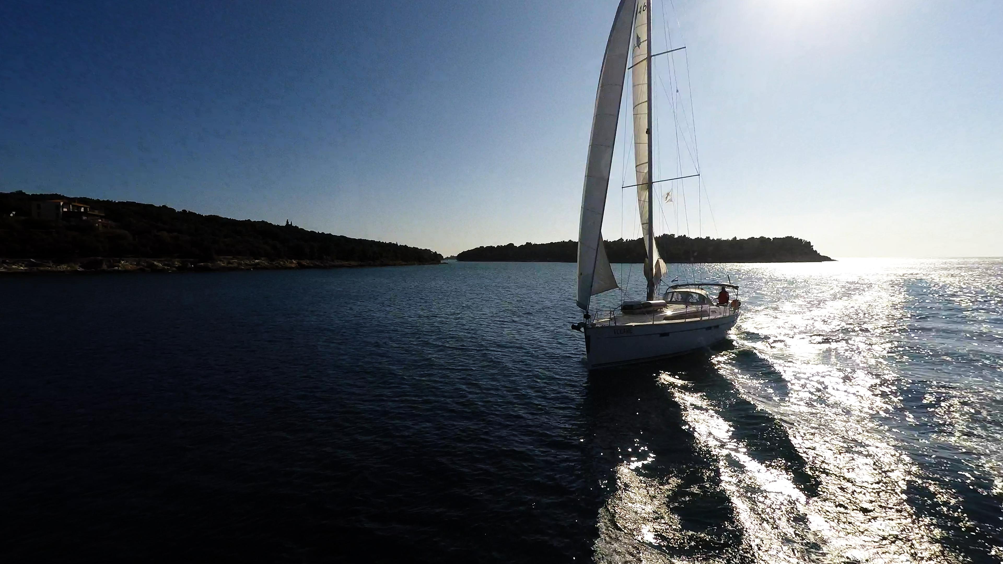 barcha a vela yacht a vela Croazia isola mare