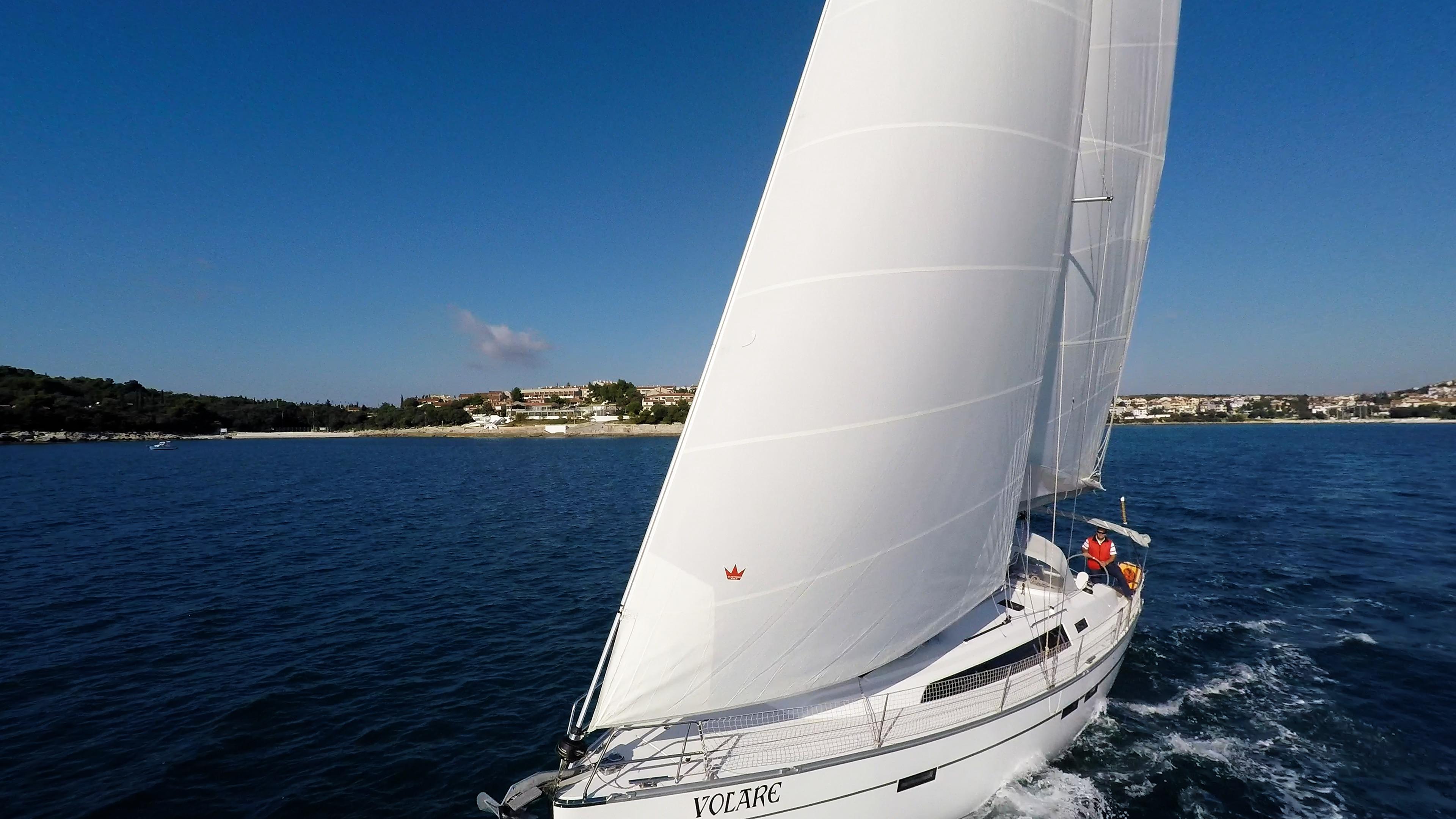 barcha a vela vele barca a vela yacht a vela bavaria 46 mare cielo blu