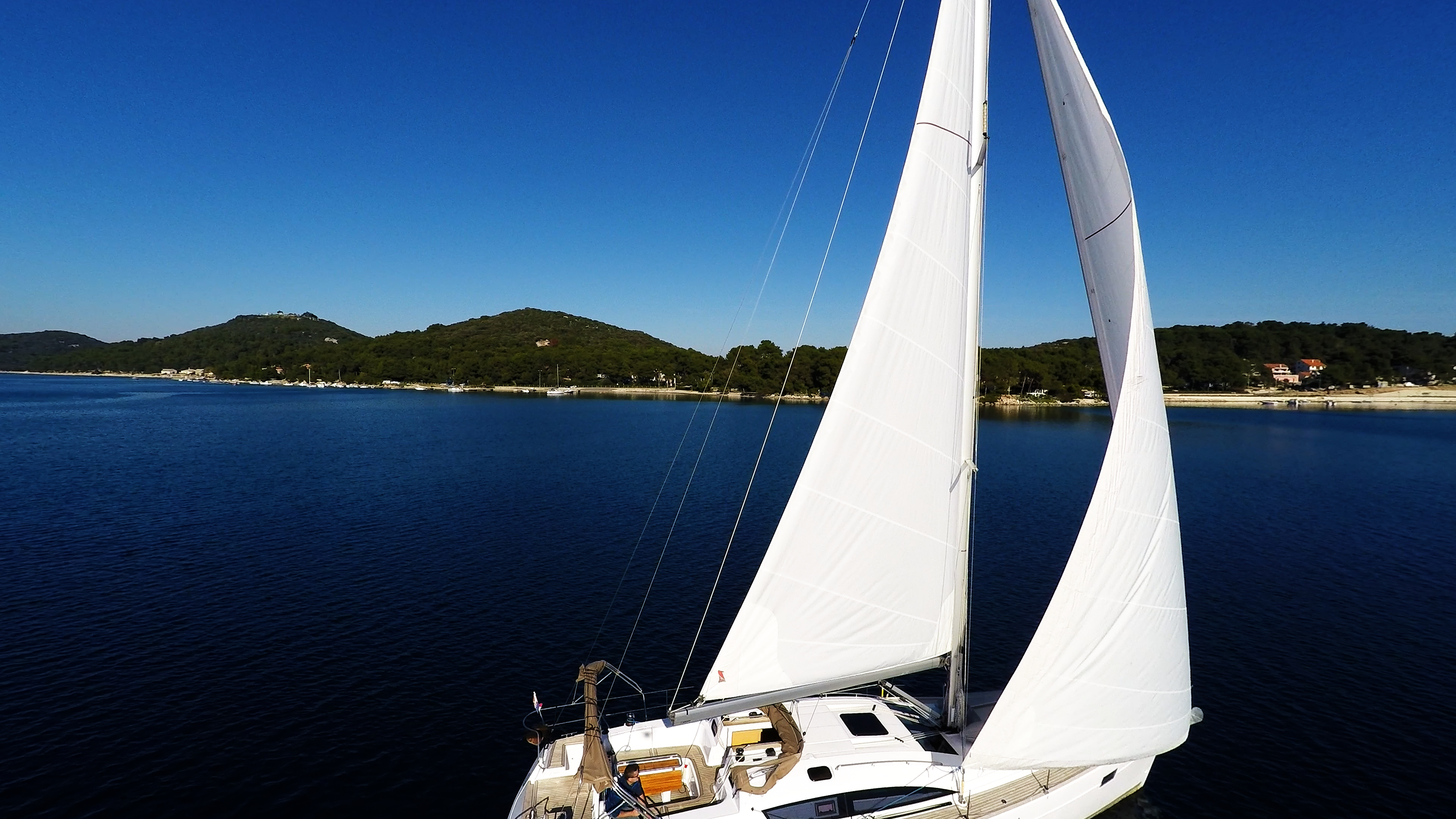 barcha a vela mare blue cielo vele della barca a vela yacht a vela
