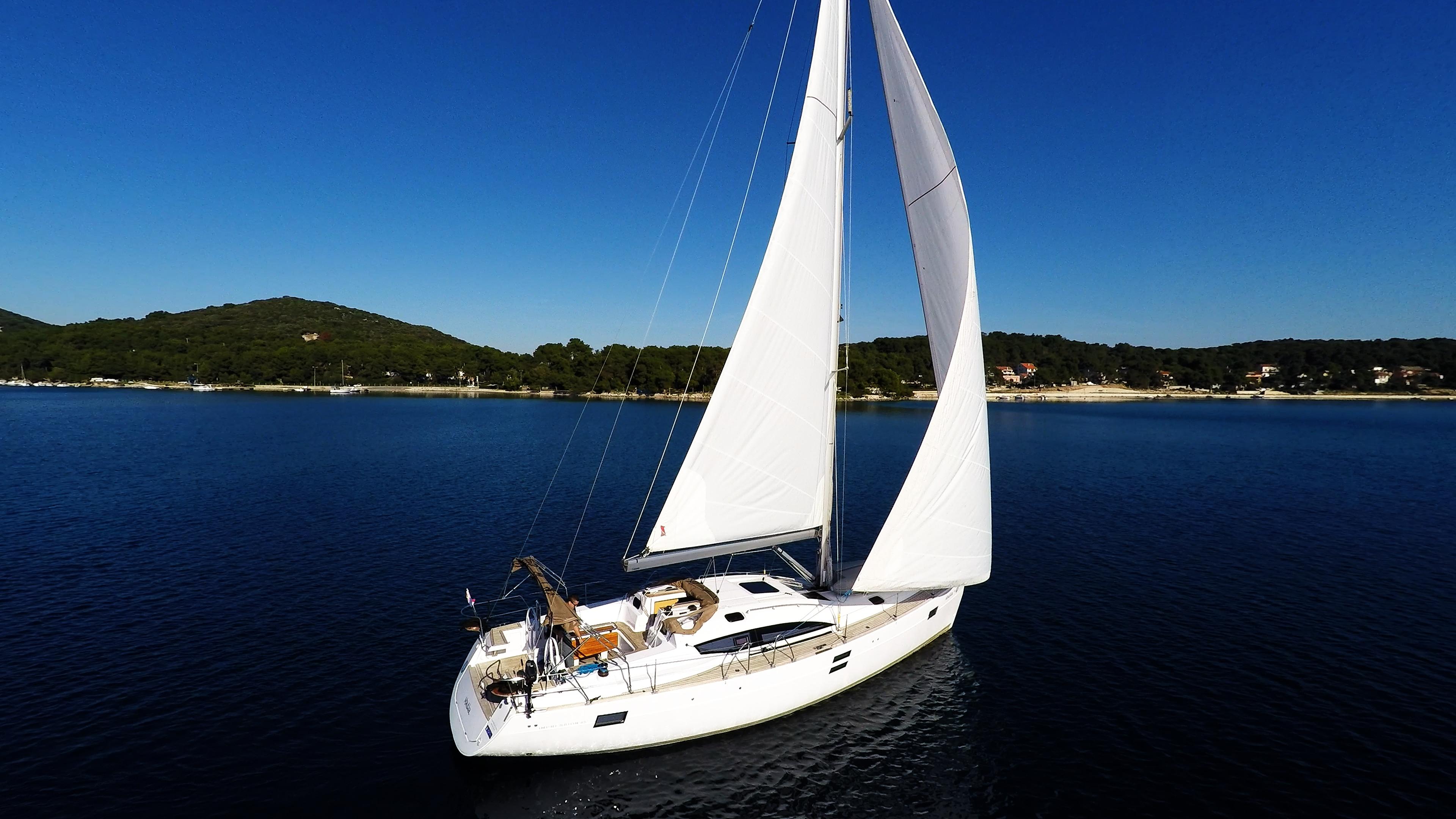 barcha a vela cielo blu yacht a vela elan 45 impression barca a vela vela