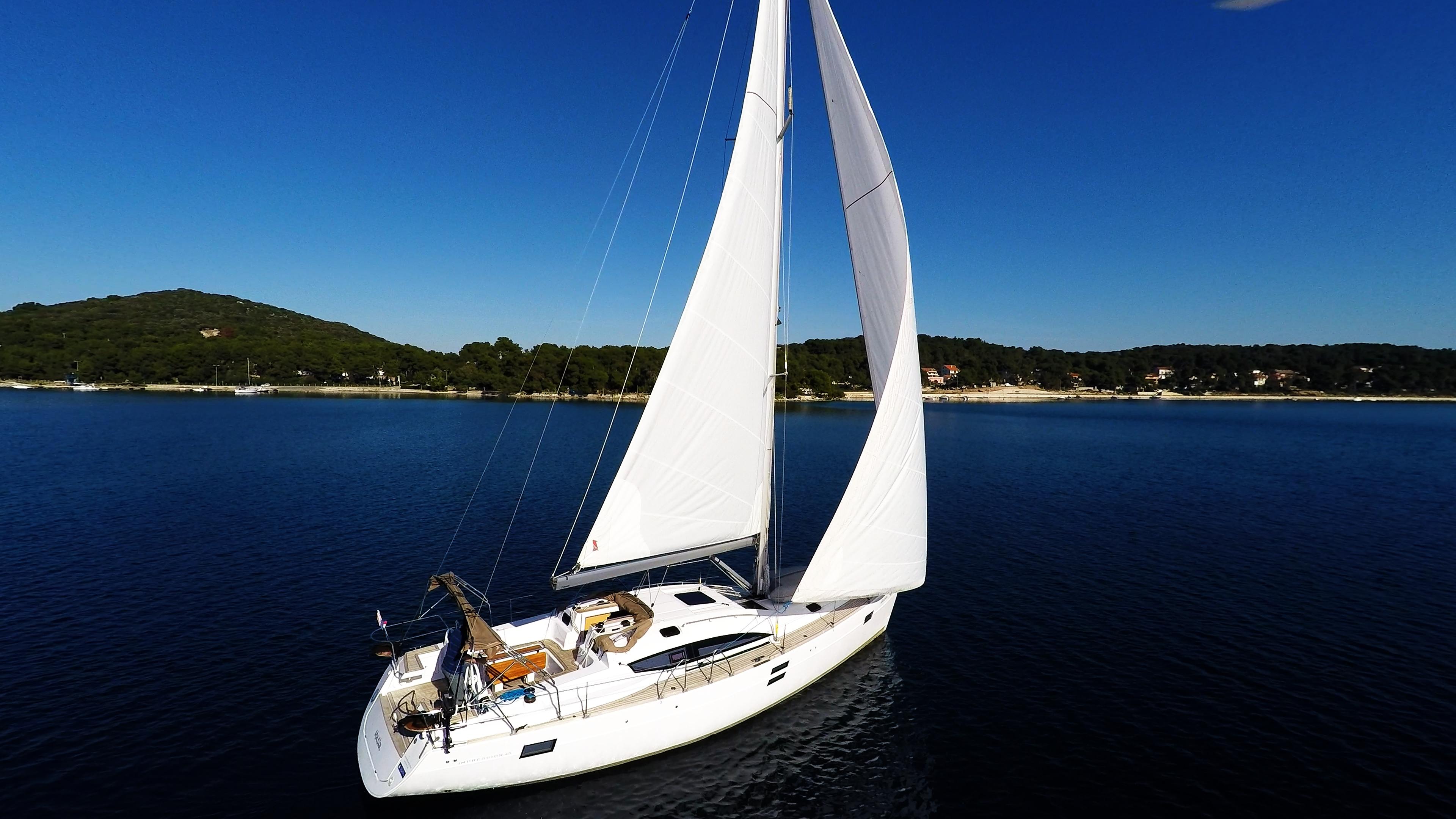 barcha a vela cielo blu yacht a vela elan 45 impression vele barca a vela