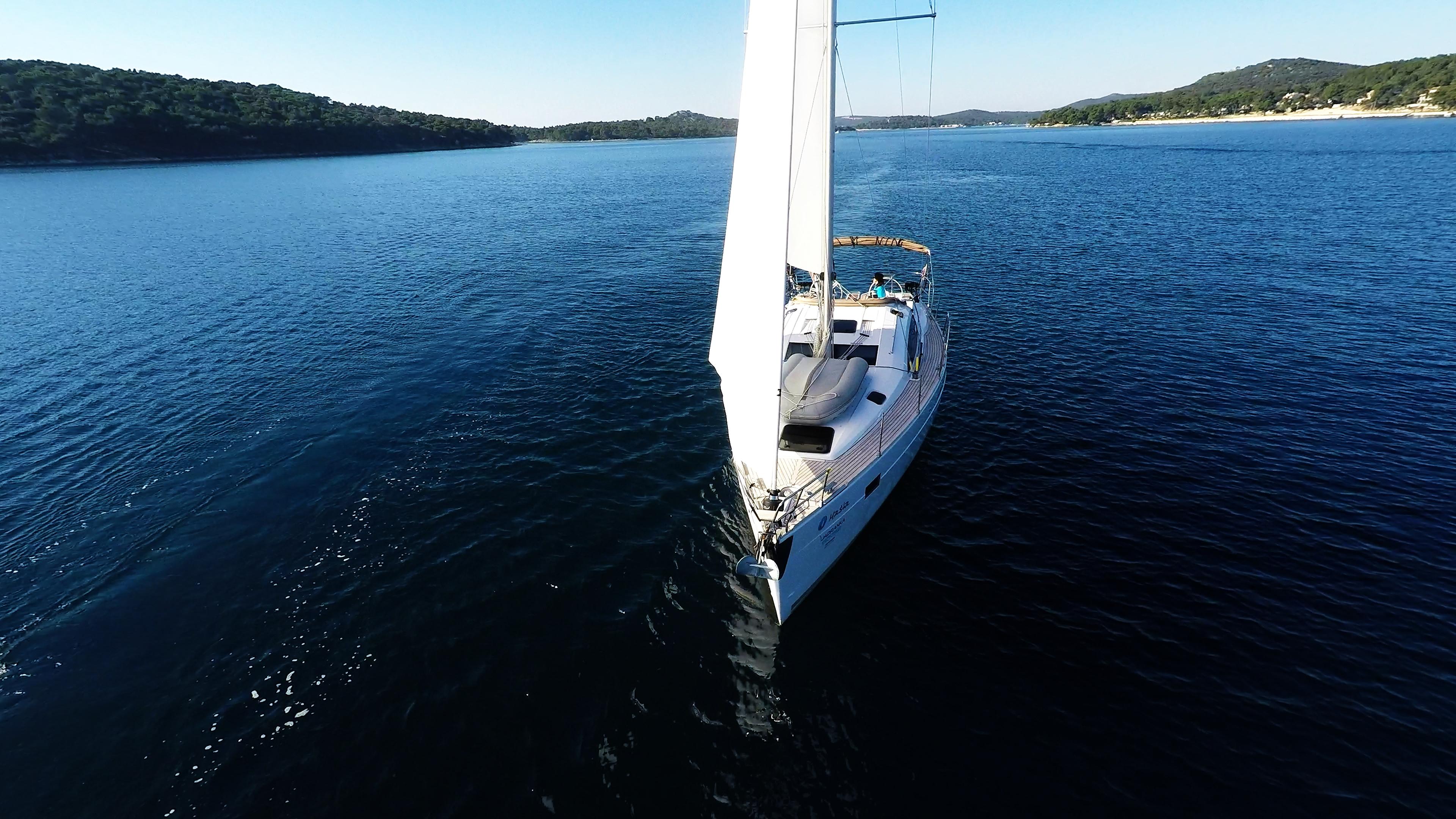 barcha a vela prua barca a vela elan 45 impression vele di yacht a vela