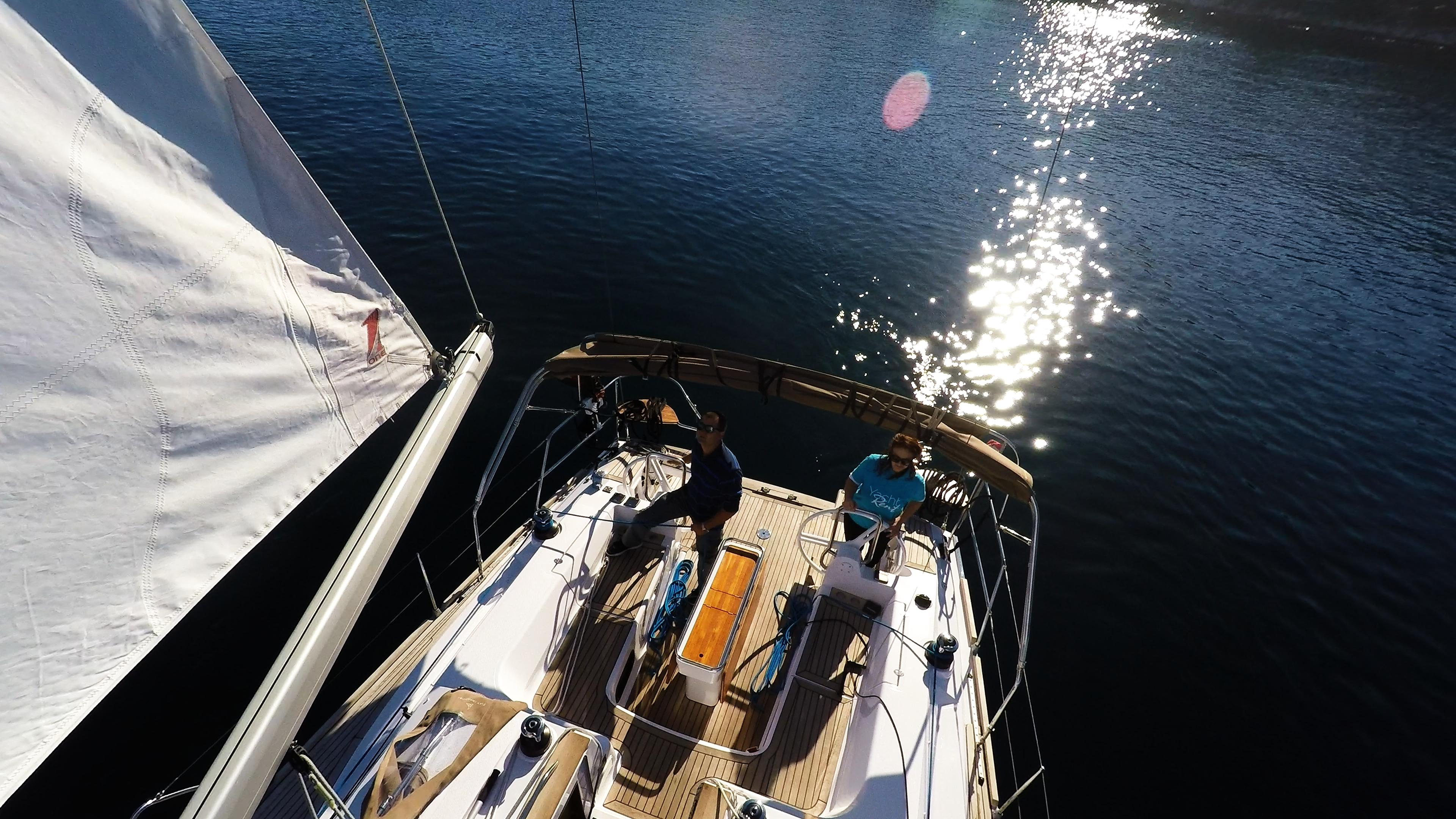 barcha a vela pozzetto yacht a vela elan 45 impression vela