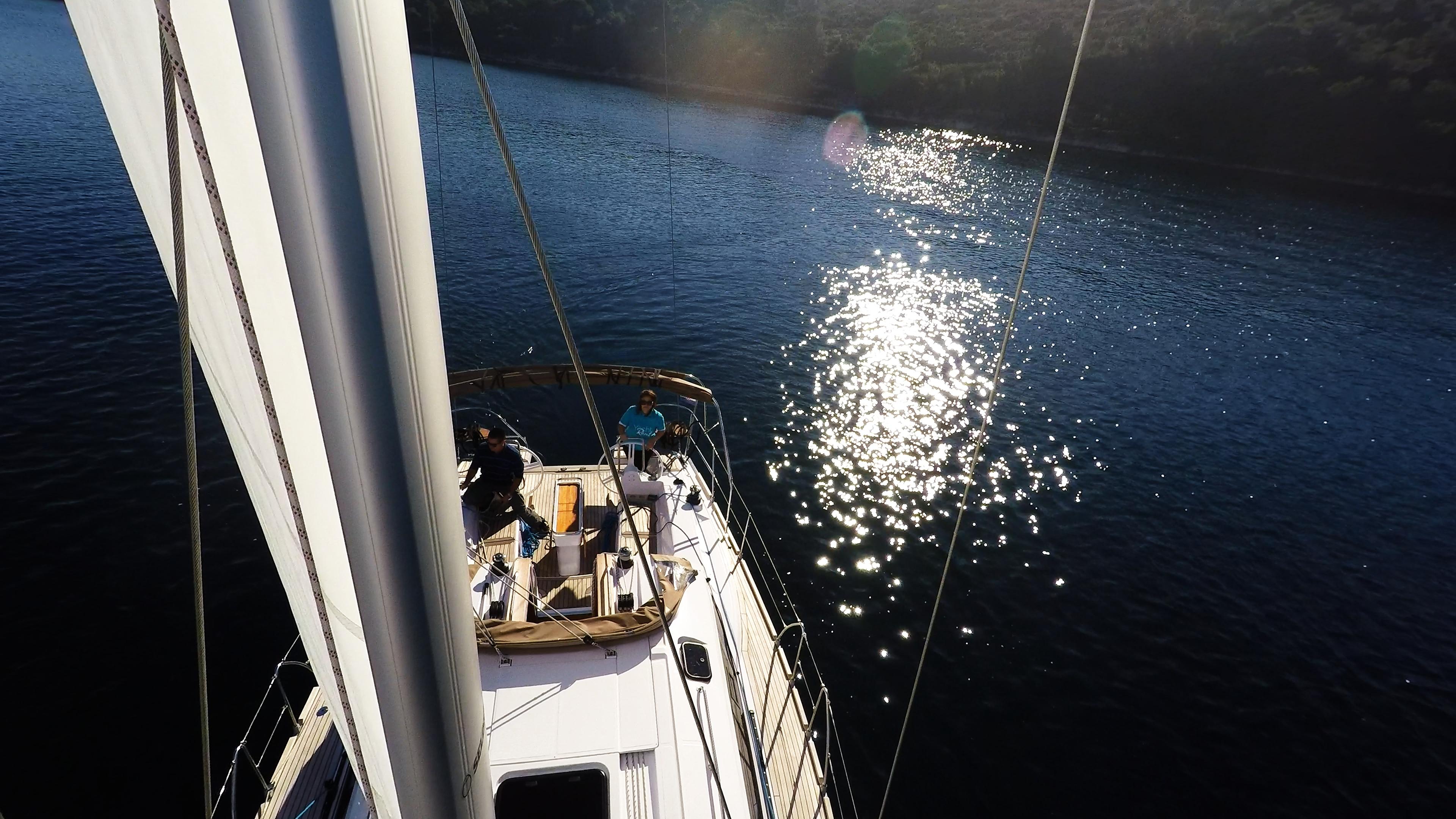 barcha a vela albero vela randa yacht a vela elan 45 impression barca a vela