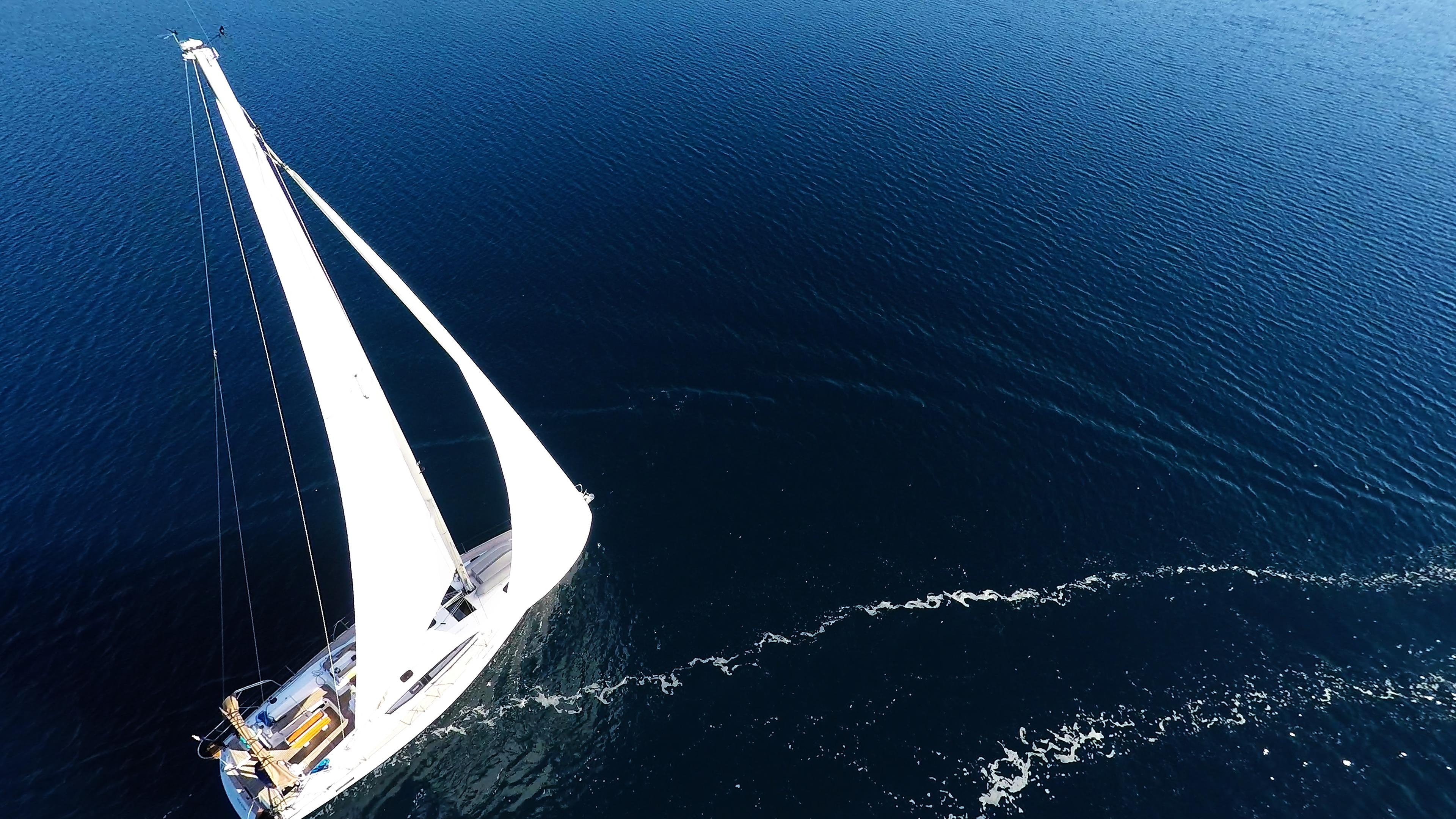 barcha a vela albero vela yacht a vela elan 45 barca a vela mare blu