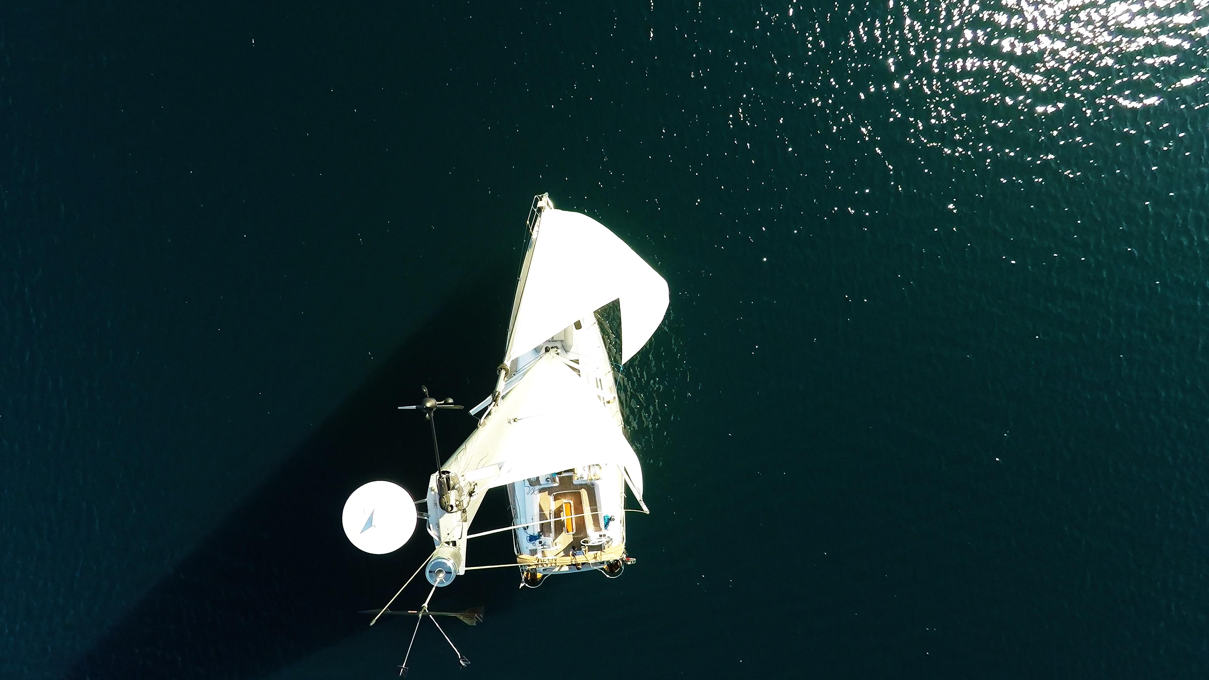 barcha a vela radar cima d'albero yacht a vela elan 45 impression vela vele della barca a vela