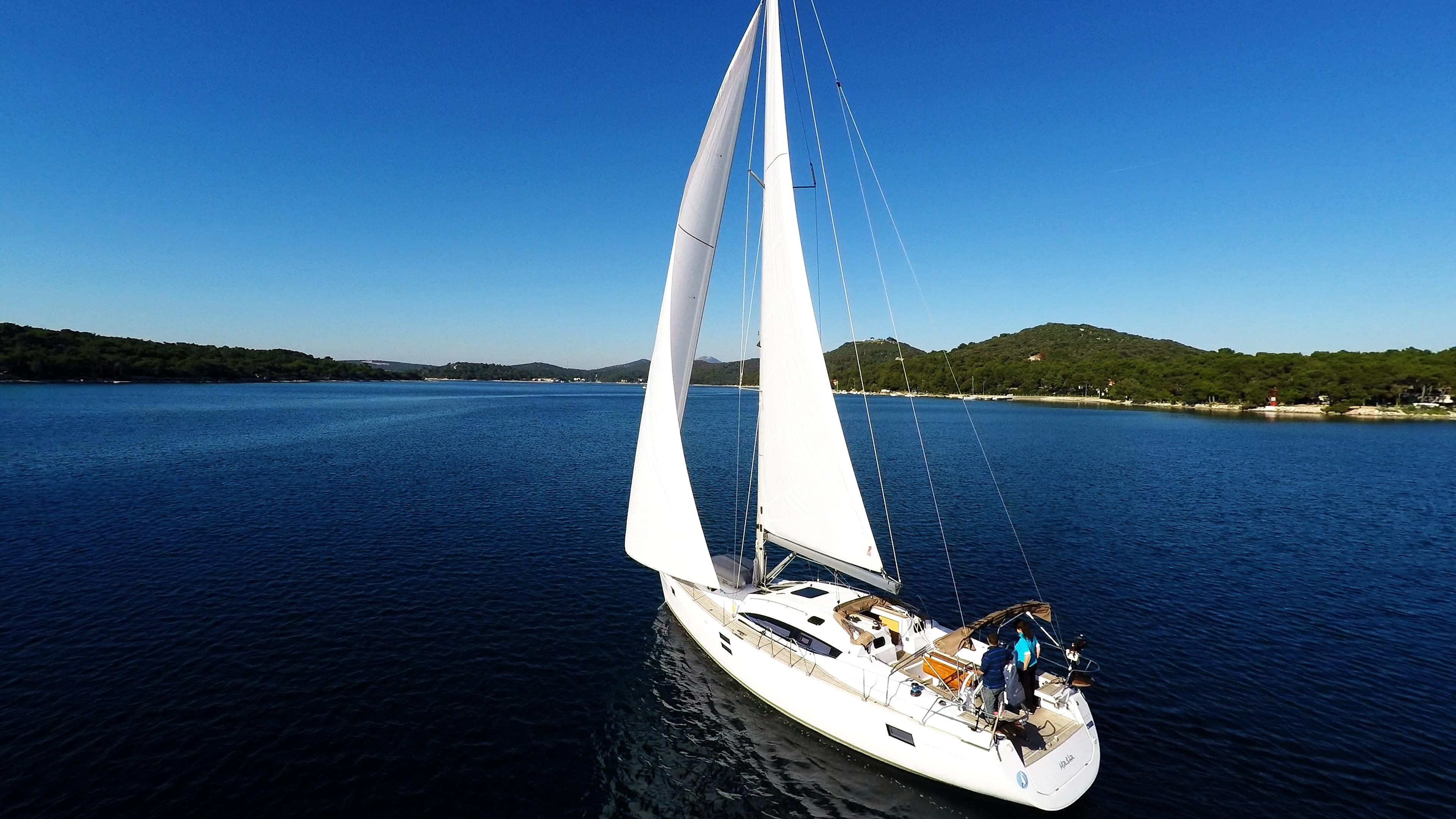 barcha a vela vela yacht a vela elan 45 impression barca a vela cielo blu