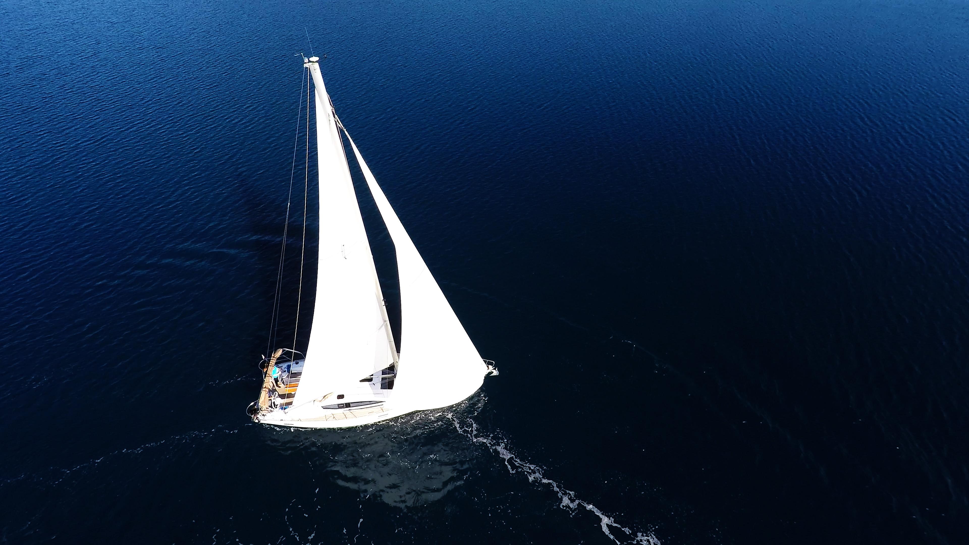 barcha a vela vela yacht a vela barca a vela elan 45 impression mare blu