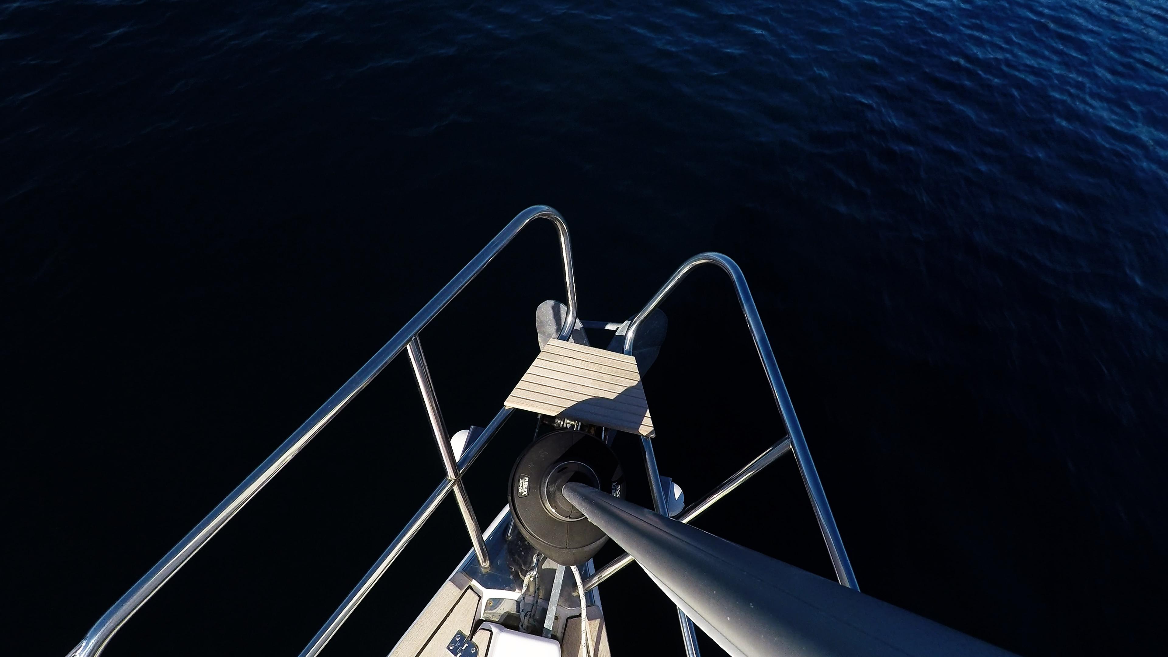 barcha a vela prua della barca a vela strallo rotolo genova