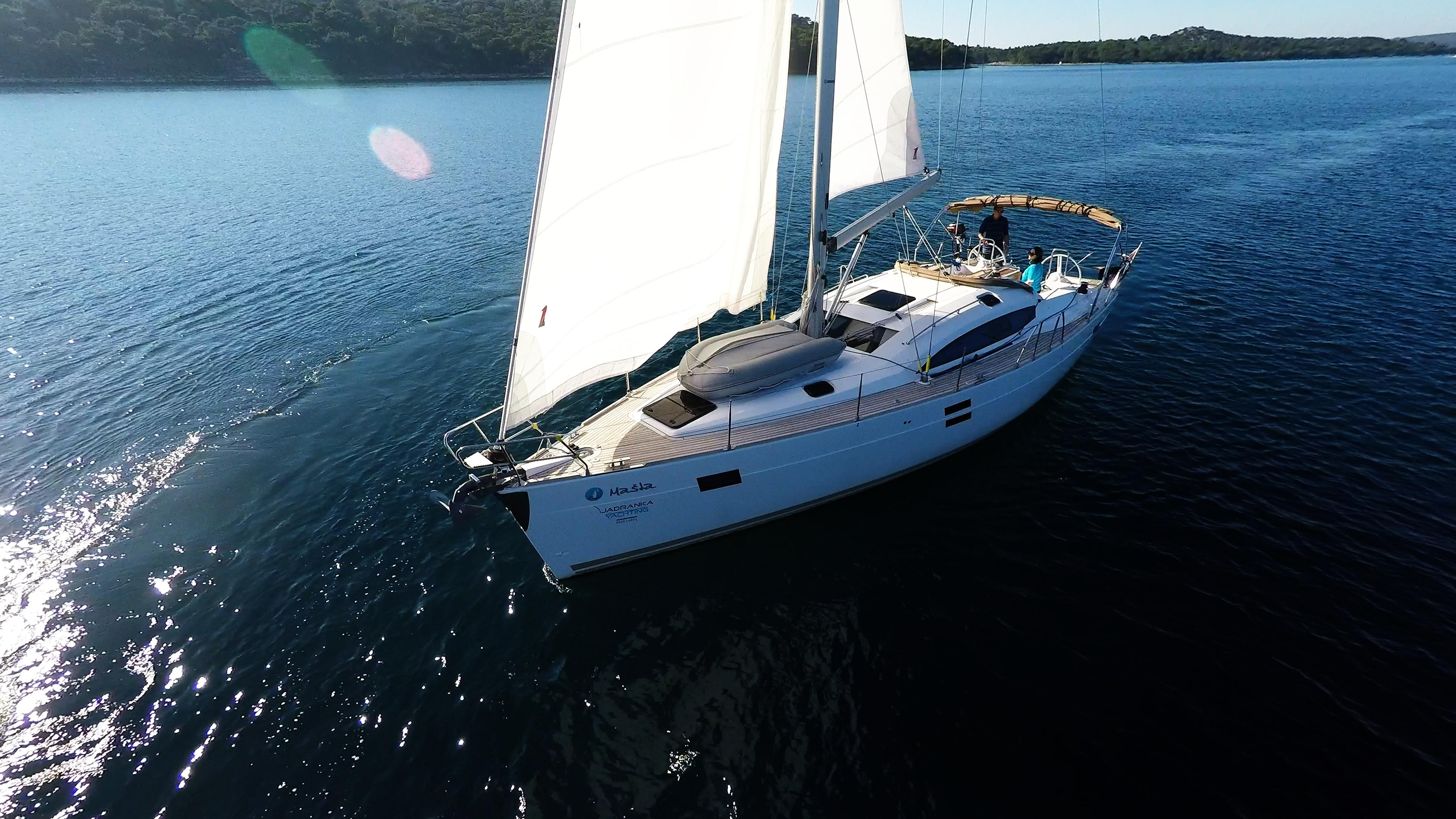 barcha a vela barca a vela elan 45 impression prua vela yacht a vela