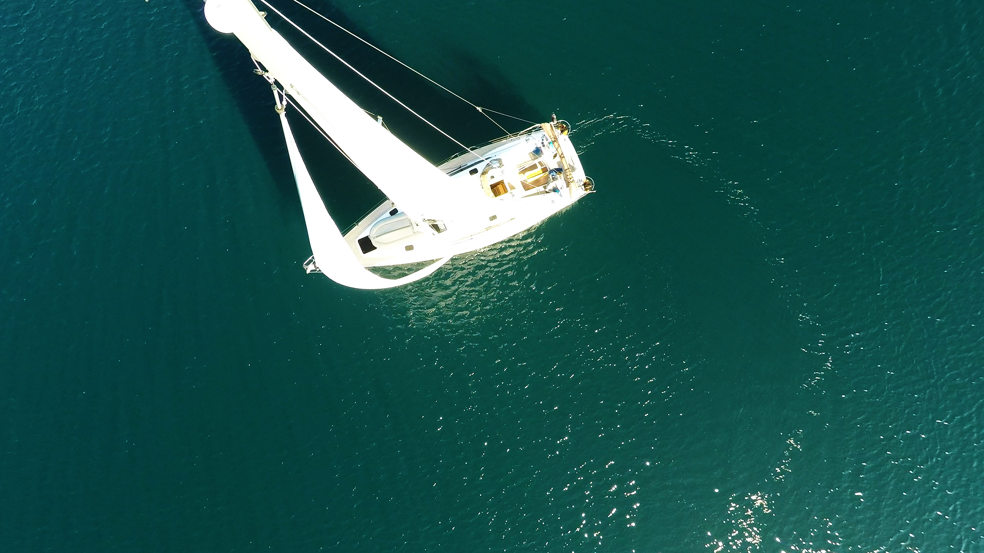 barcha a vela barca a vela dal cielo yacht a vela albero