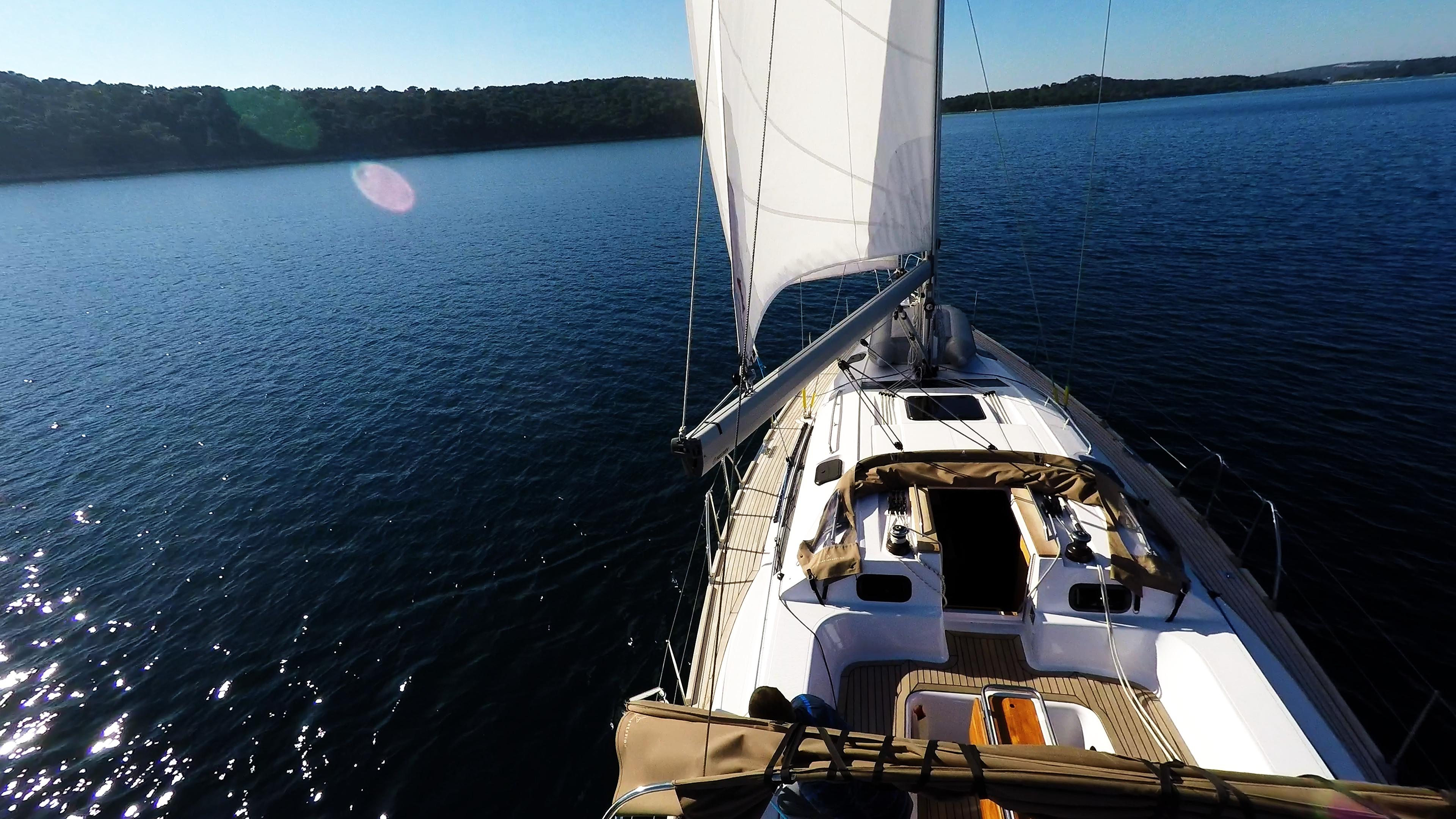 barcha a vela copertain teak per barche a vela vele yacht a vela elan 45 impression