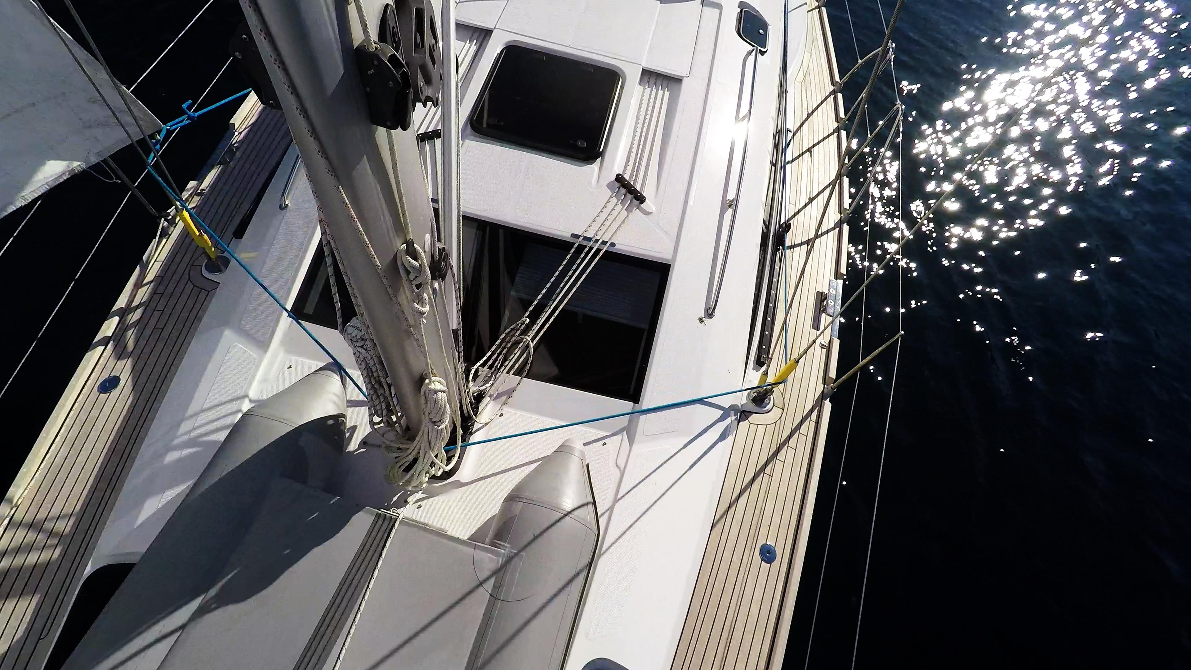 barcha a vela coperta per yacht a vela teak corde corde albero