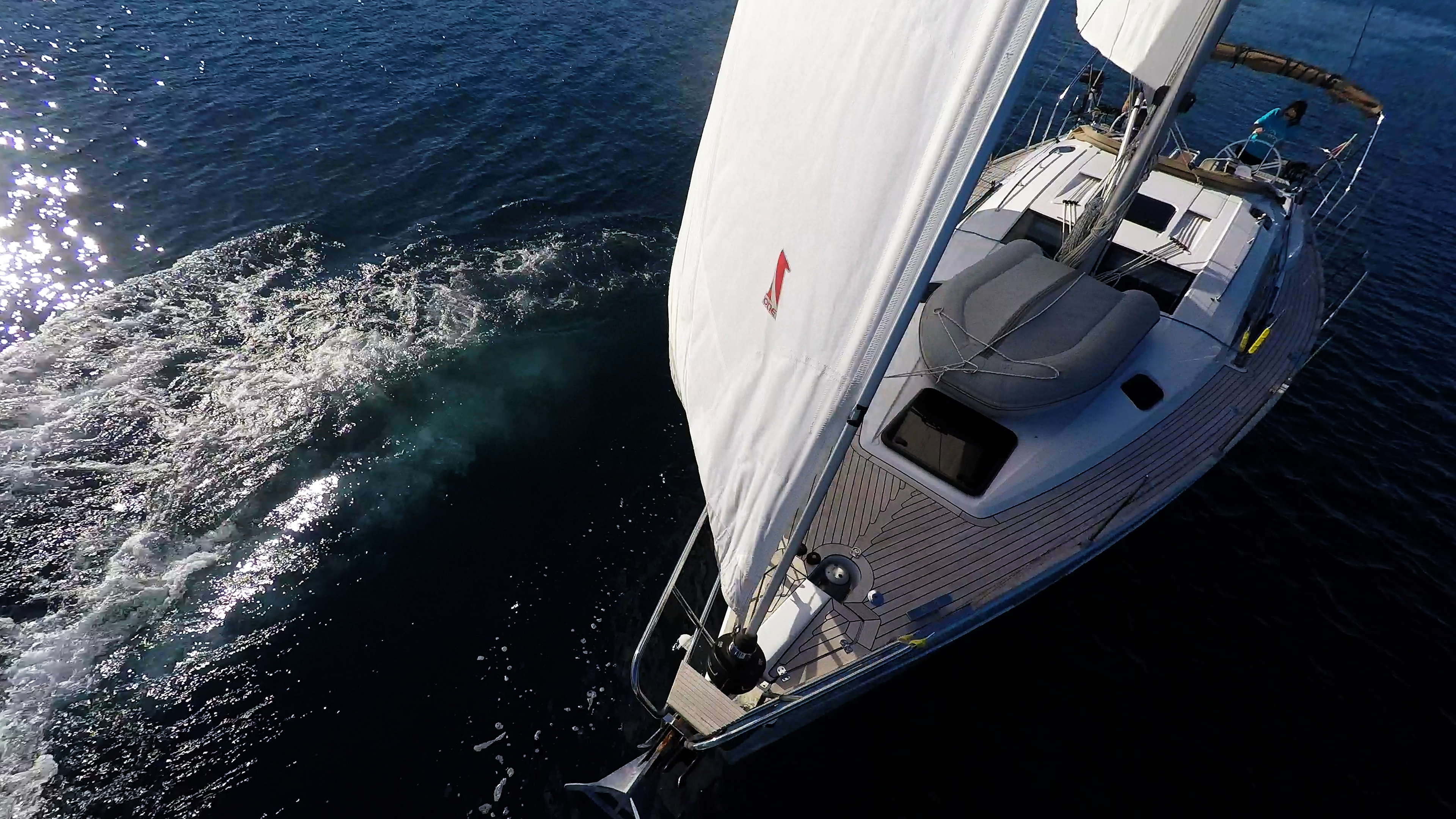 barcha a vela yacht a vela elan 45 impression prua vela barca a vela