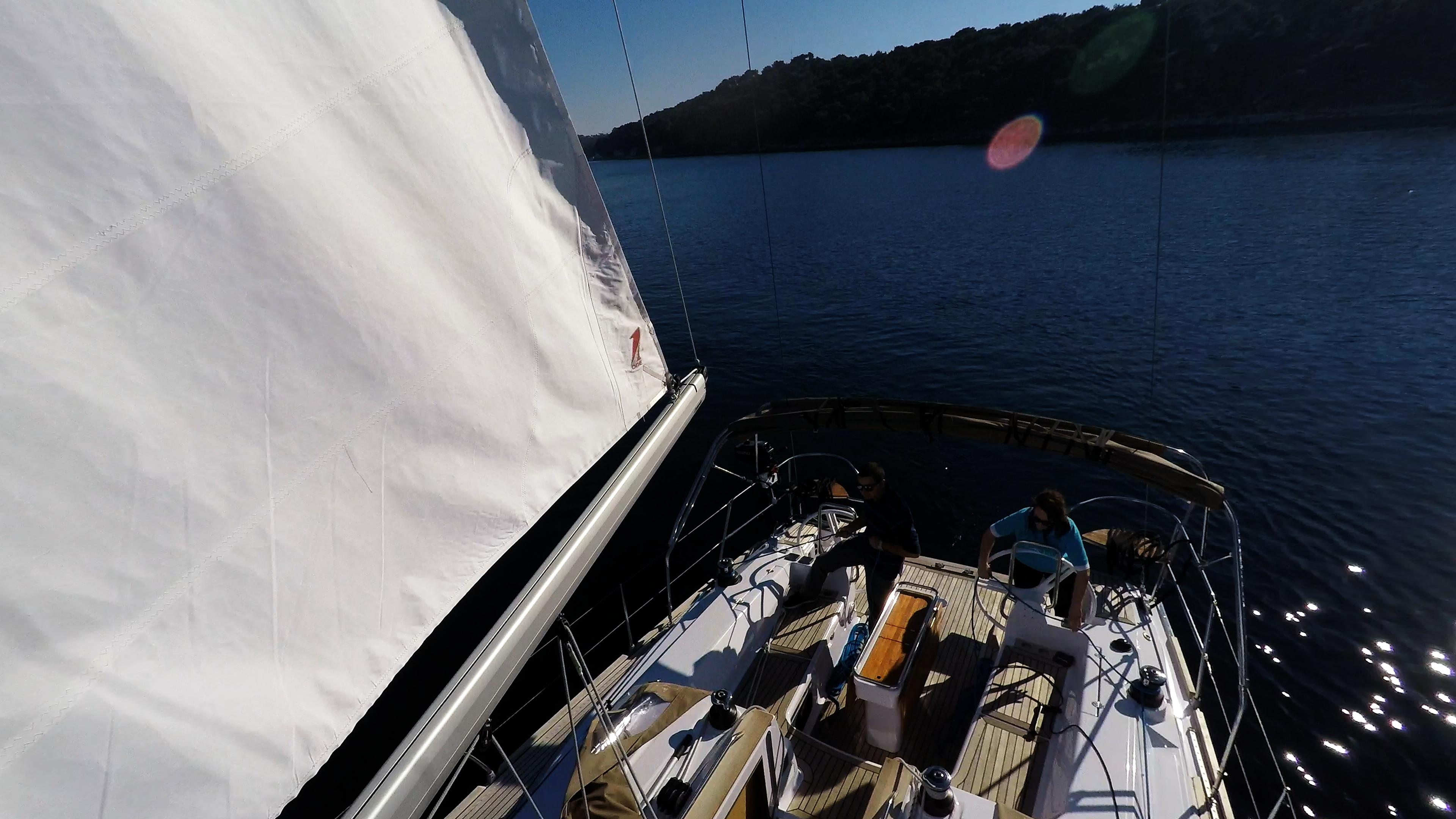 barcha a vela yacht a vela elan 45 impression pozzetto timoni ruota