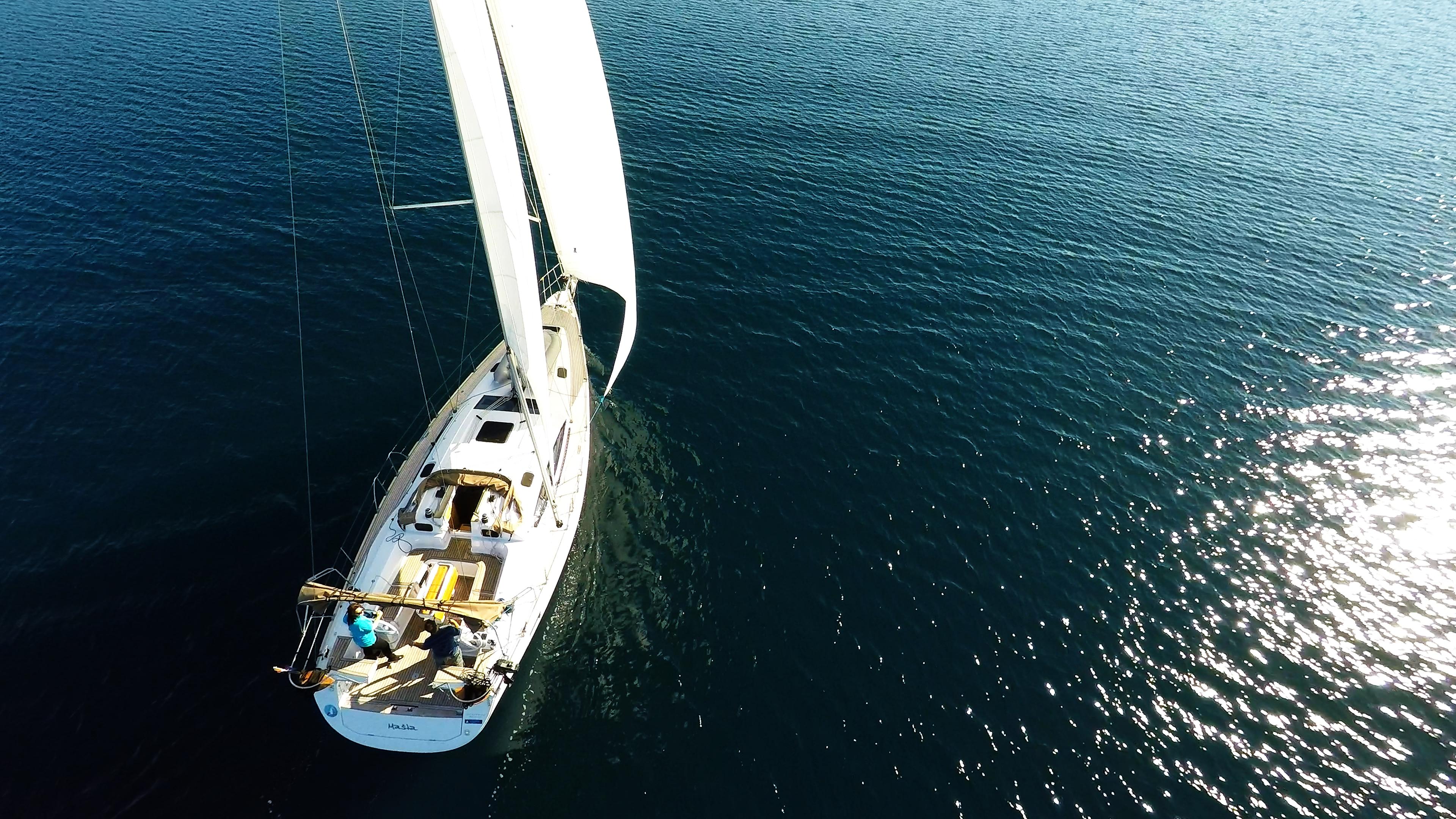 barcha a vela yacht a vela elan 45 impression ponte vele timoni ruota barca a vela