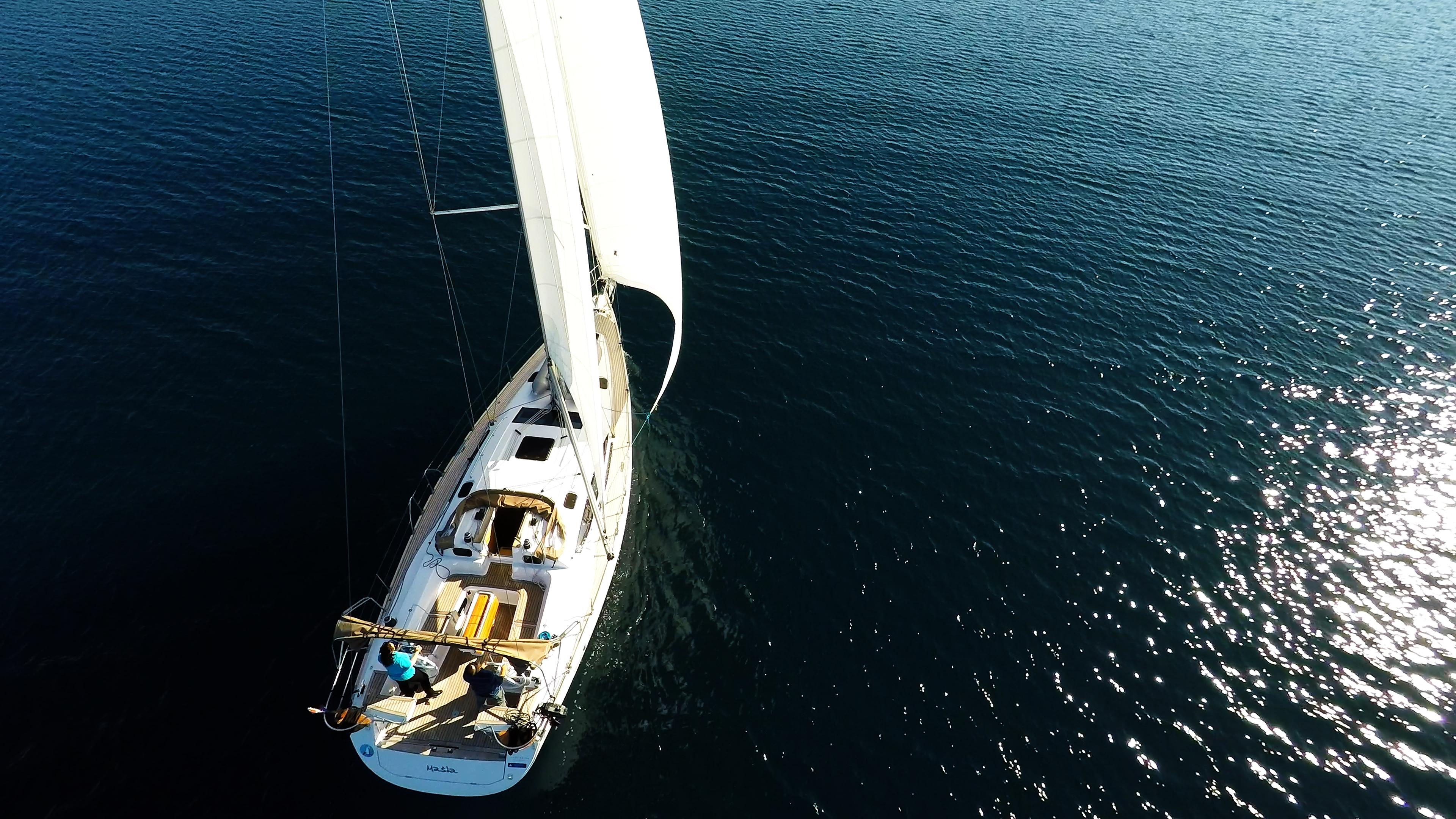 barcha a vela yacht a vela elan 45 impression ponte vele timoni ruota