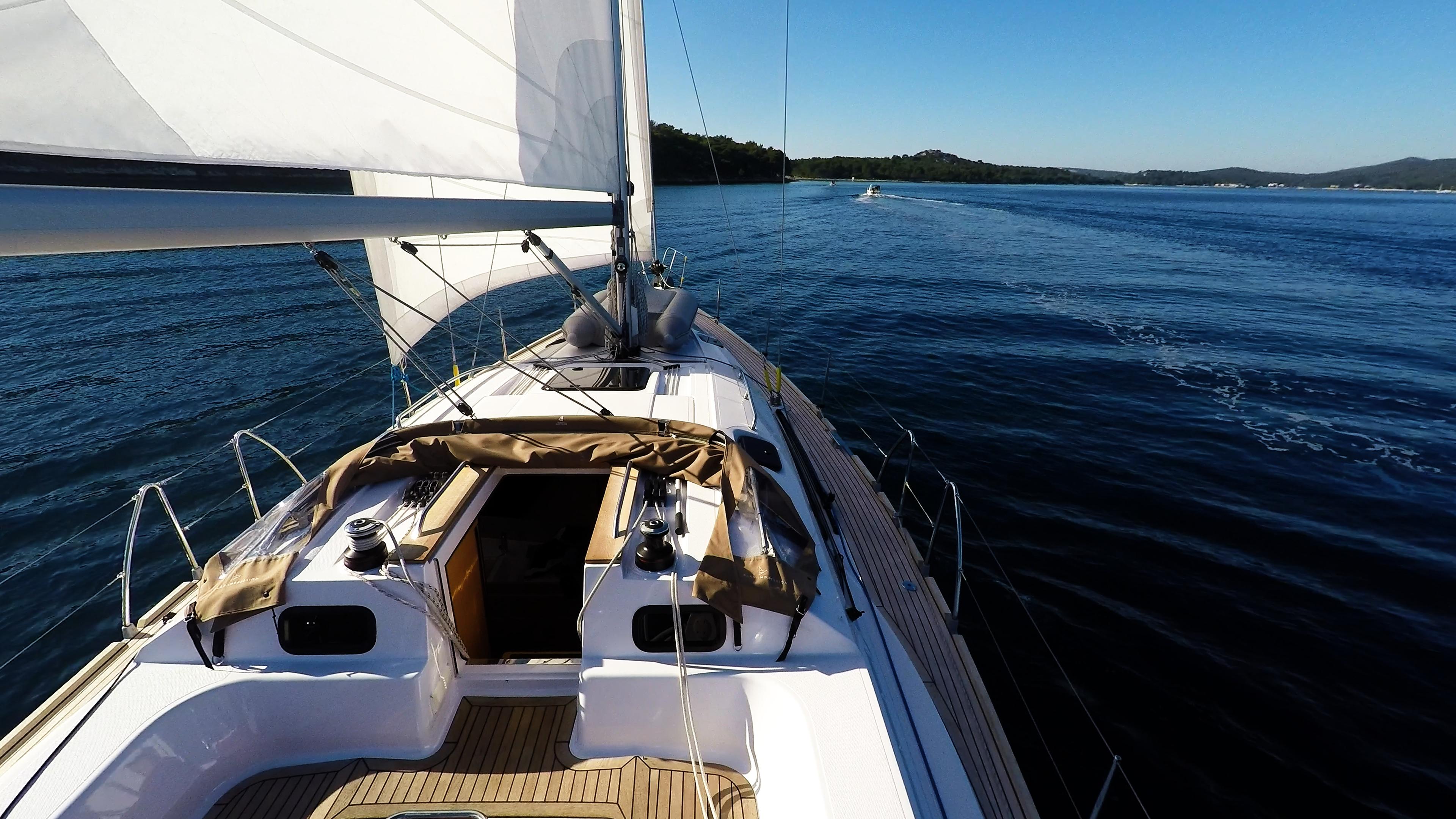 barcha a vela yacht a vela elan 45 impression ponte teak