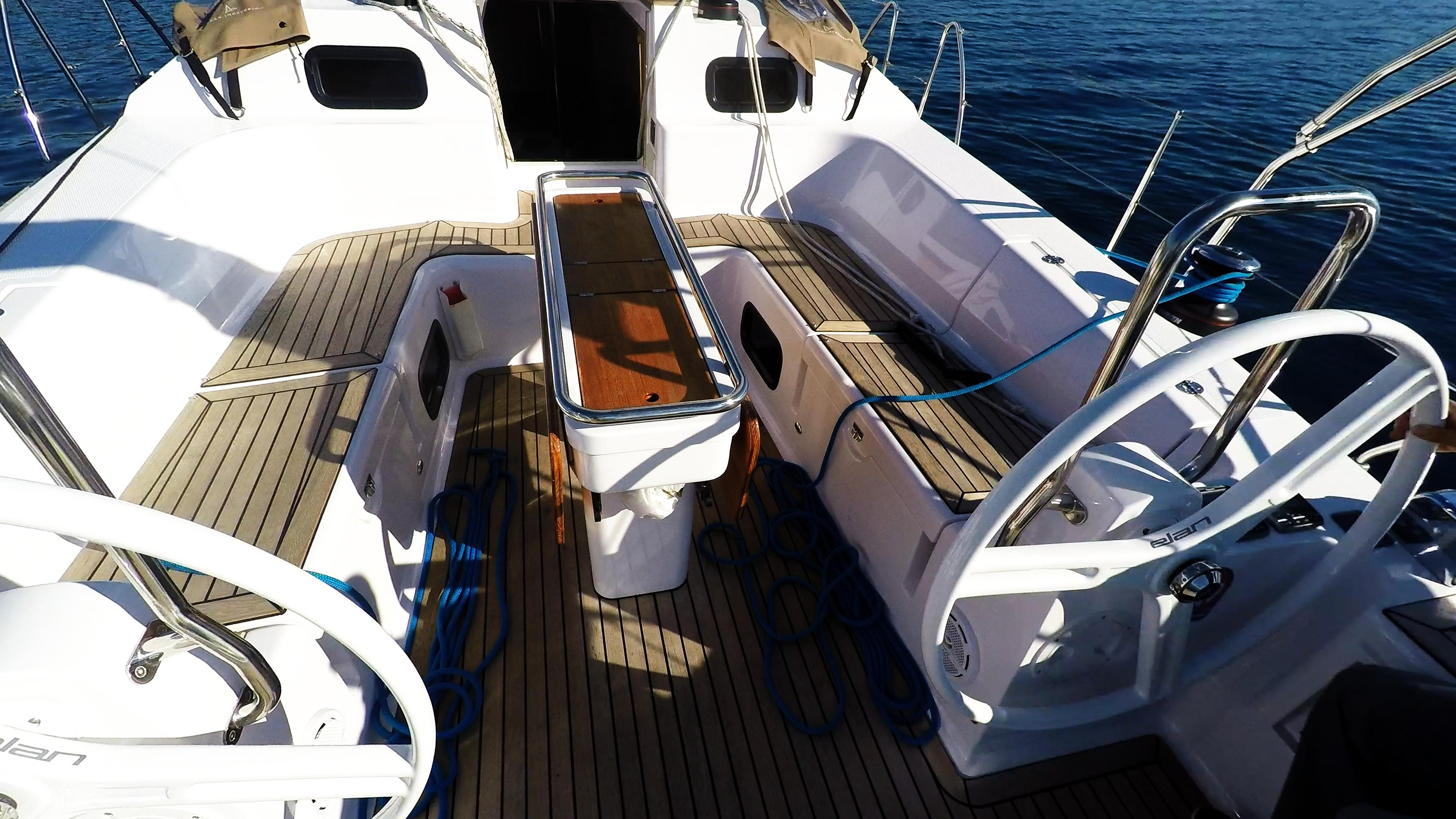 barcha a vela yacht a vela elan 45 impression doppie timoni ruota pozzetto
